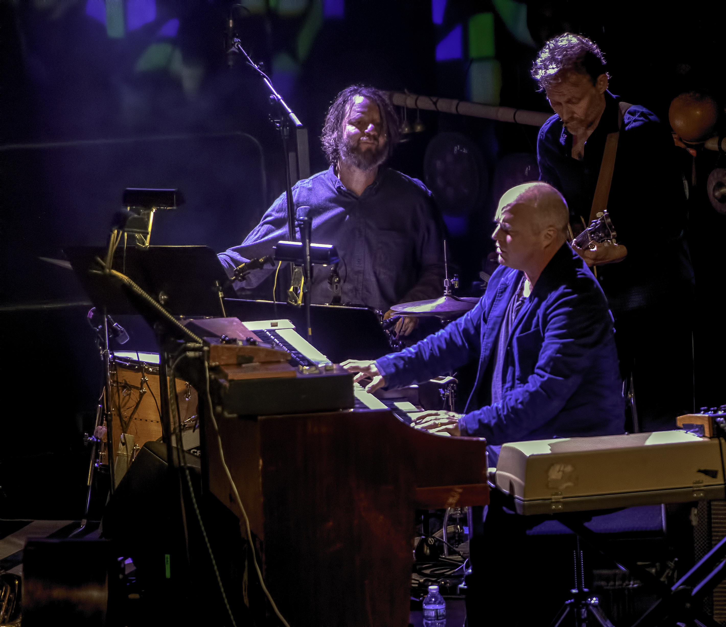 John Medeski, Chris Wood and Billy Martin with Medeski, Martin and Wood and Alarm Will Sound at the NYC Winter Jazzfest 2019