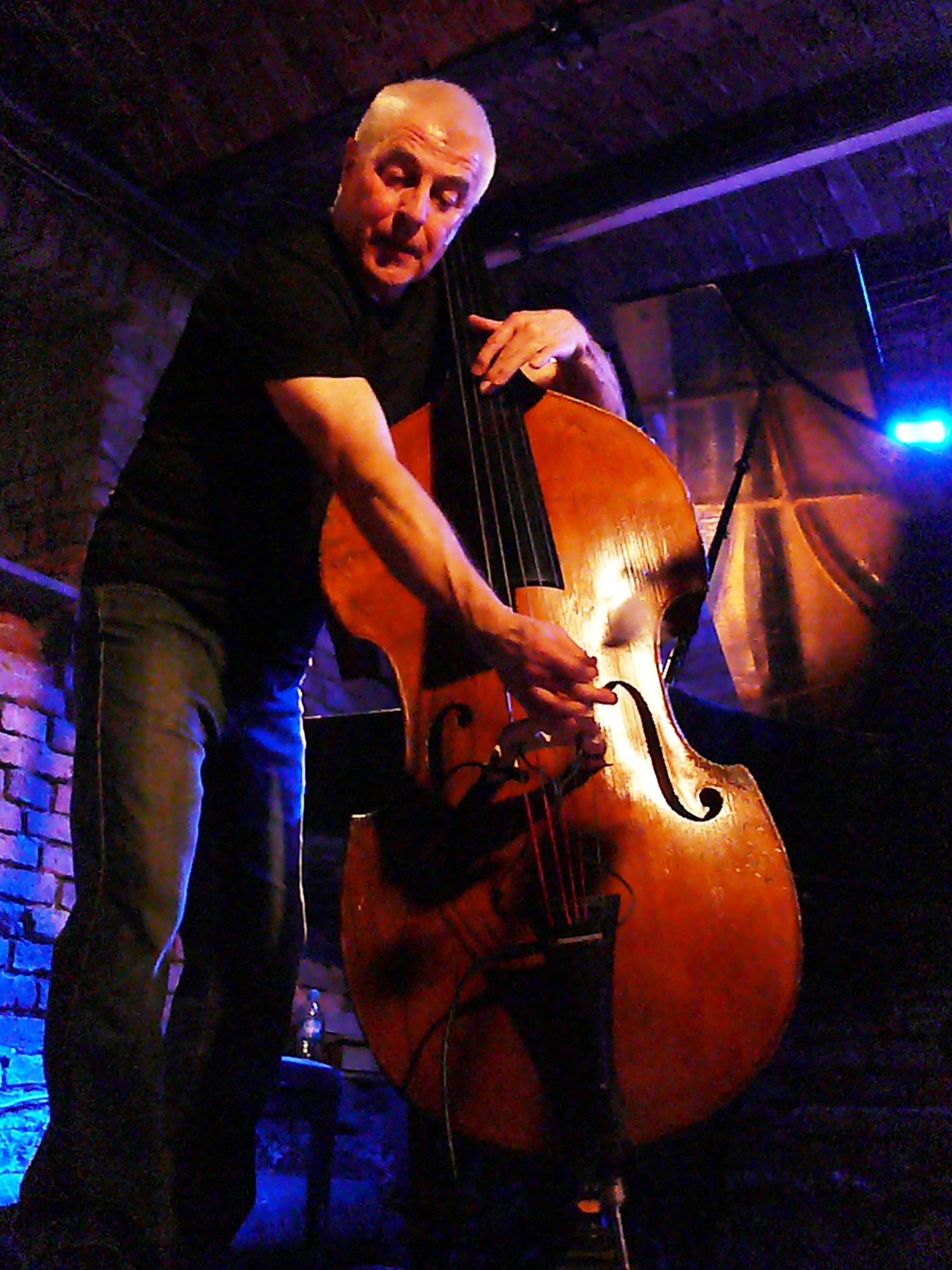 Barry Guy at Alchemia, Krakow in November 2012