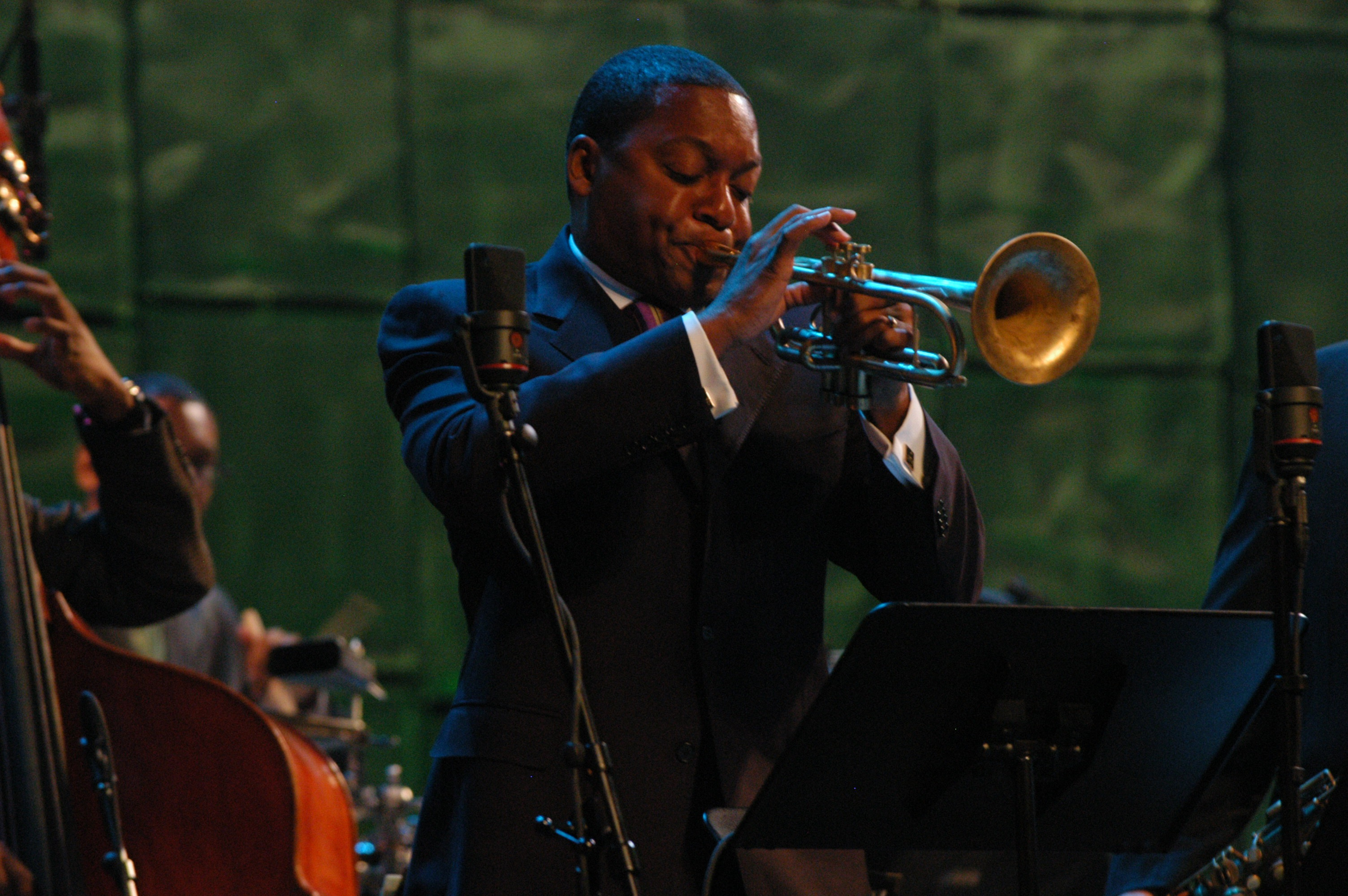 Wynton Marsalis Performs in the Allen Room at Jazz at Lincoln Center