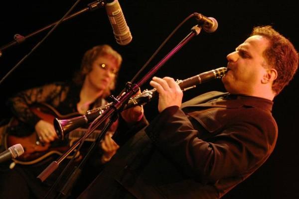 "David Krakauer and Sheryl Bailey with ""David Krakauer - Klezmer Madness"" at the Cully Jazz Festival, Cully, Switzerland, April 2"
