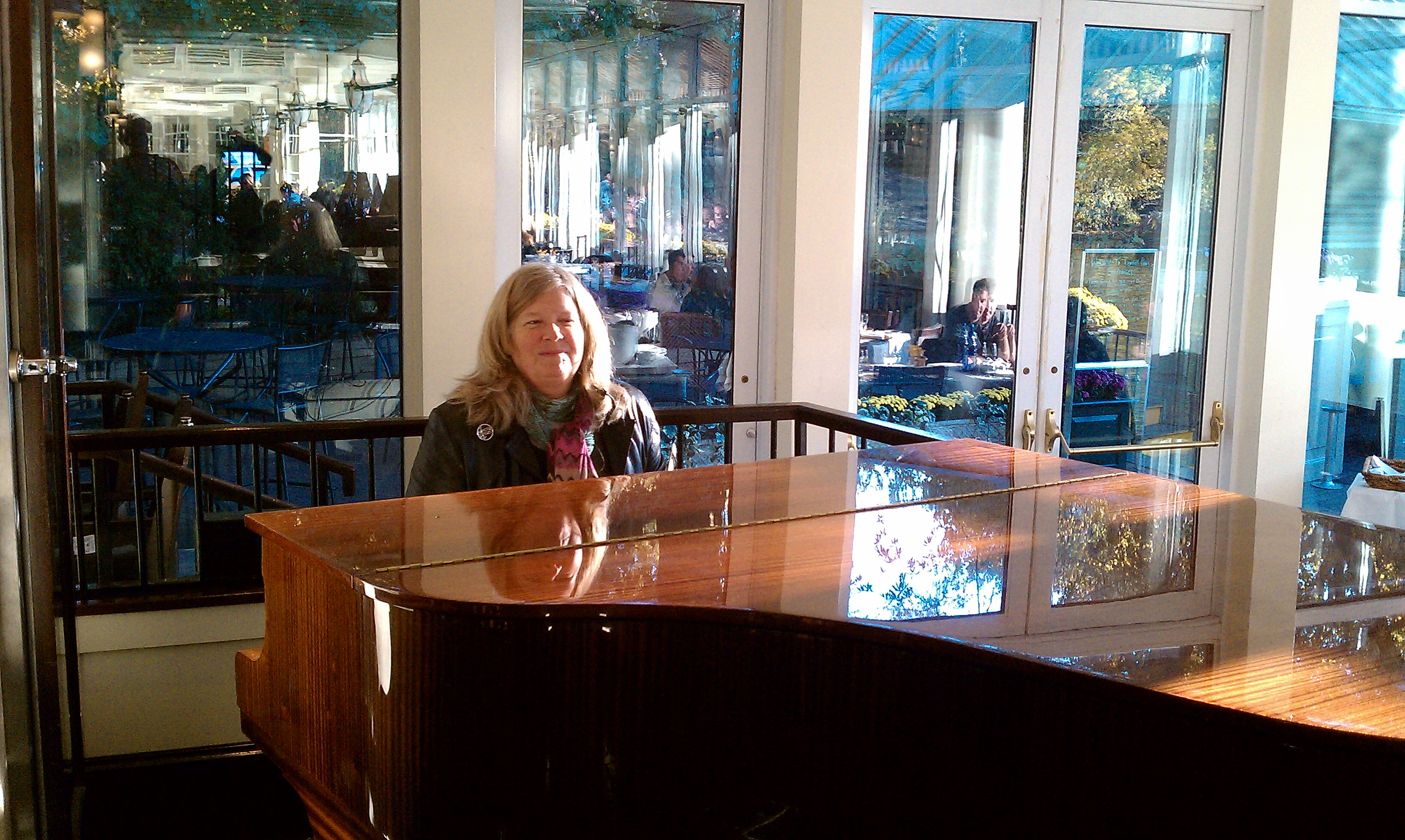 Cathy Playing Piano at Boathouse Cafe Central Park