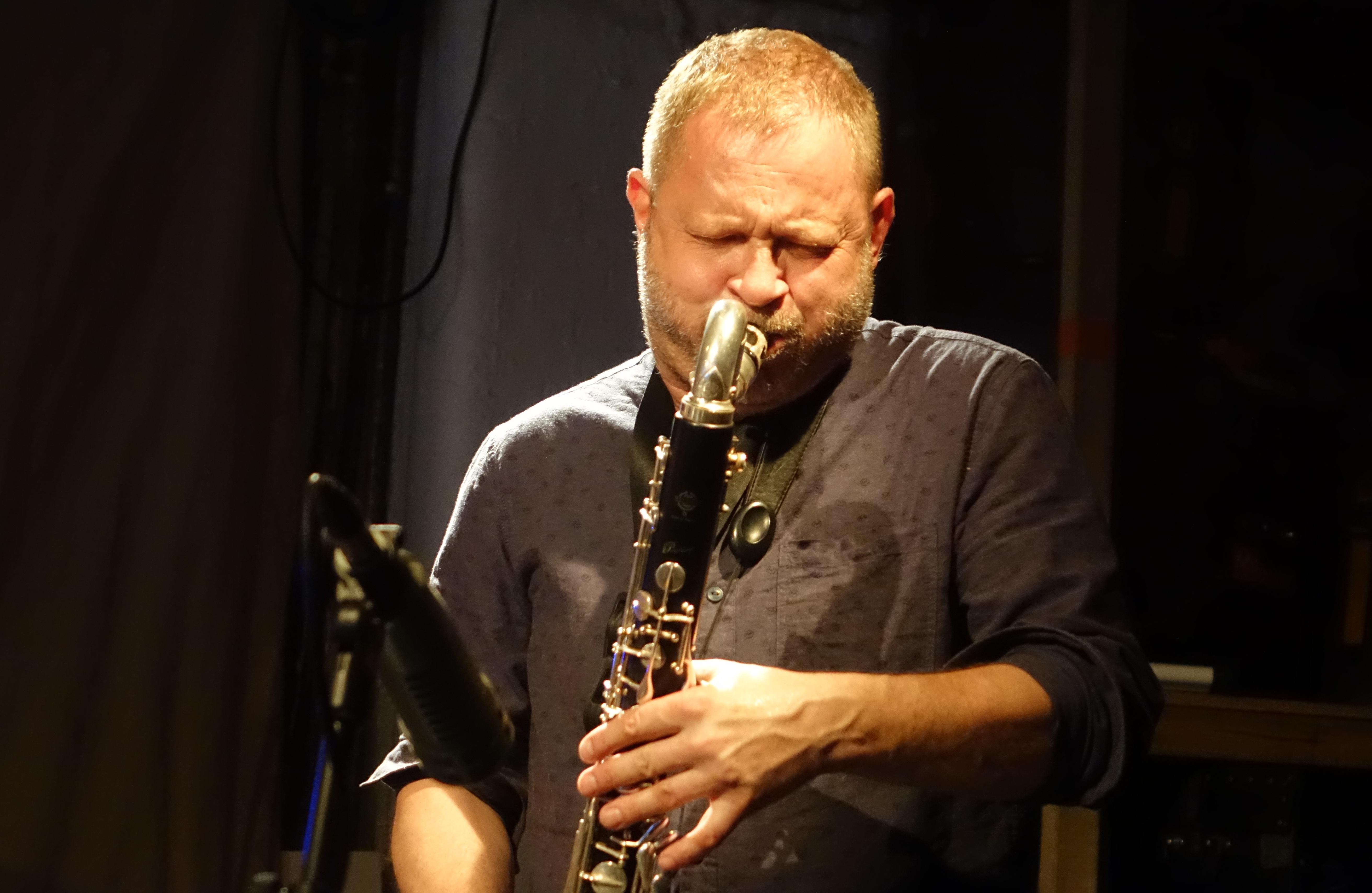 Mikolaj Trzaska at Cafe Oto, London in July 2019
