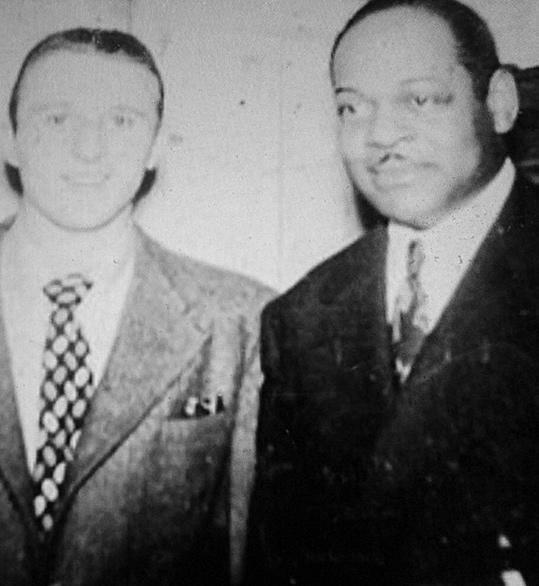 Sal Capozucca with Coleman Hawkins