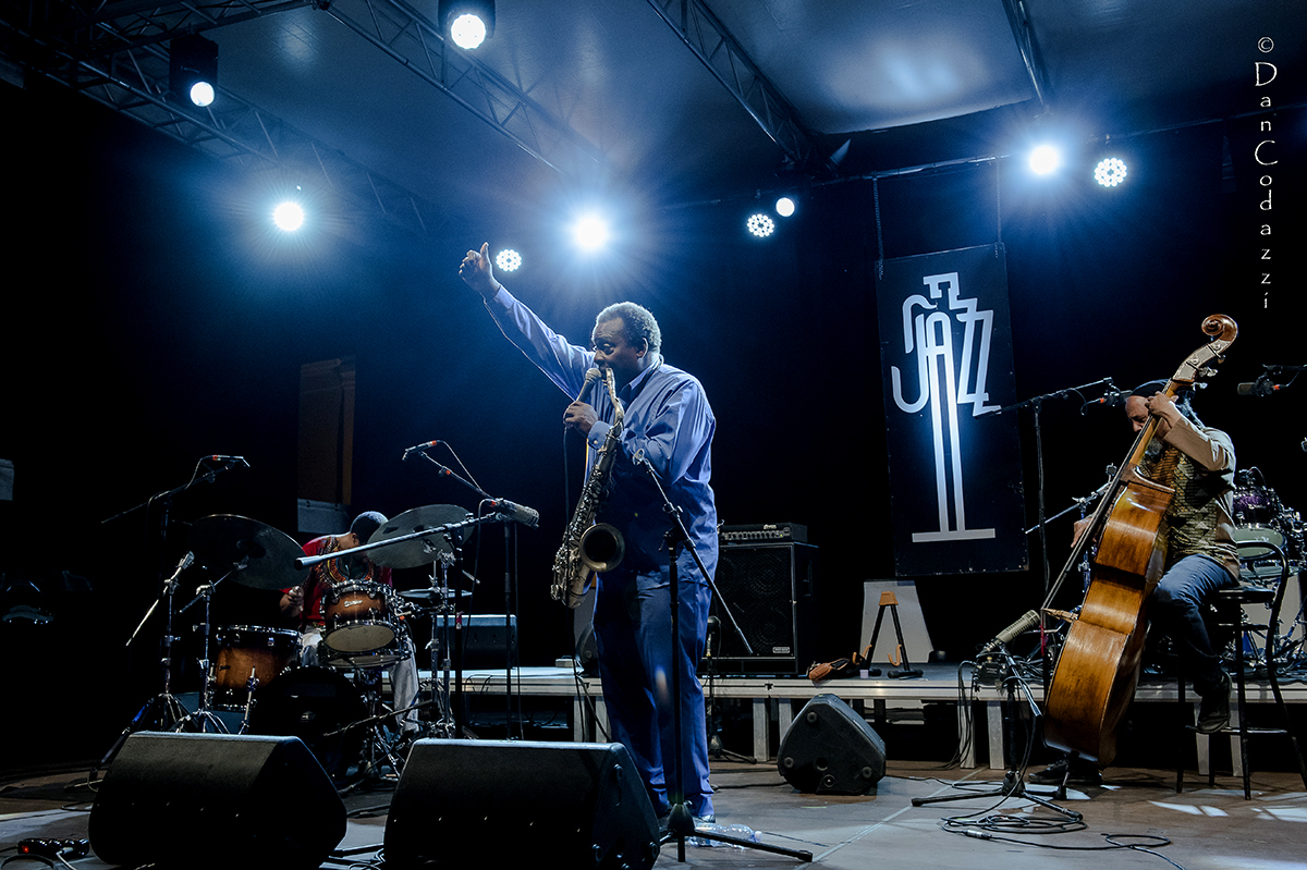 David Murray trio at Sant'Anna Arresi jazz Festival 2018
