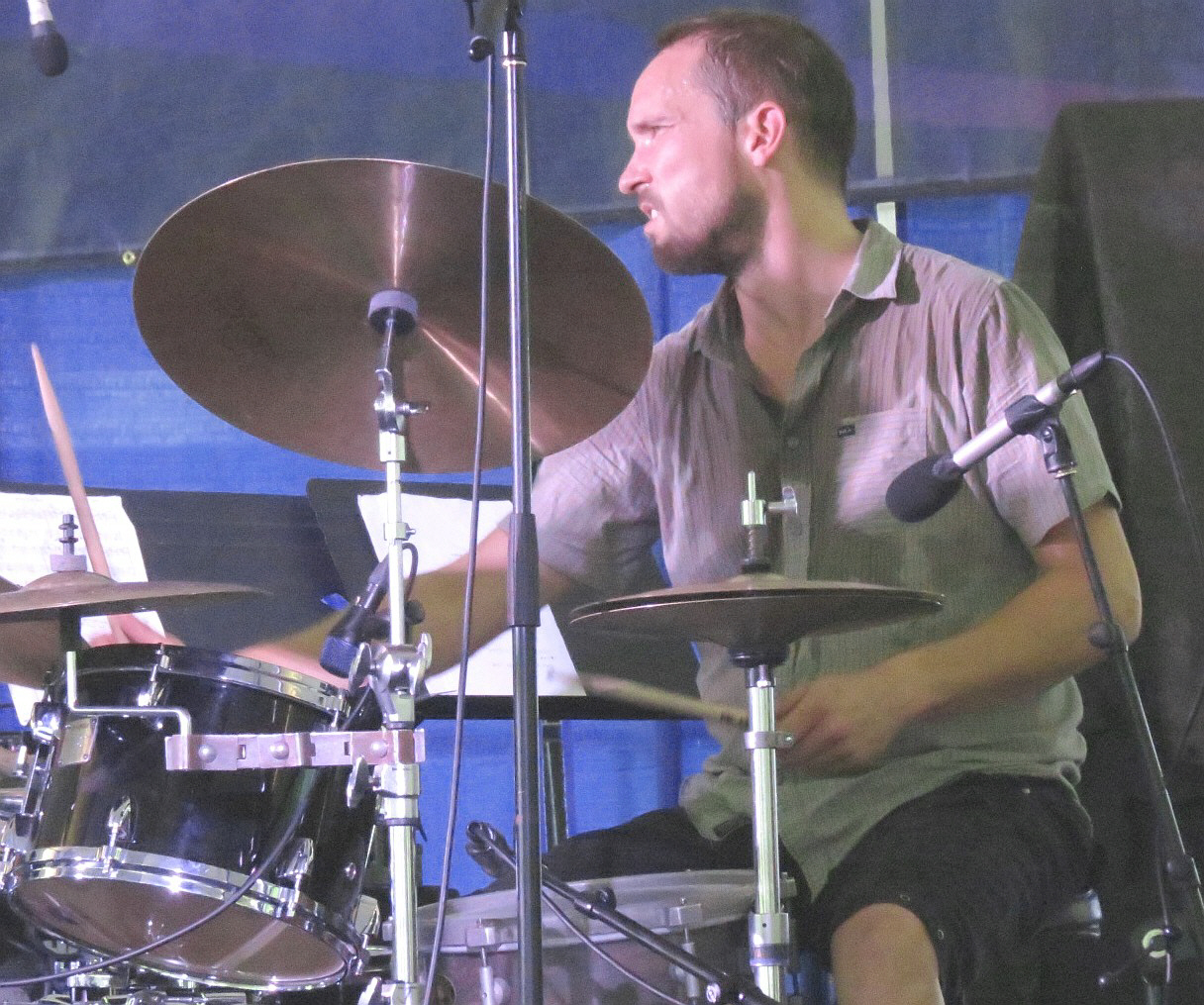 Paal Nilssen-Love with Atomic at 2013 Chicago Jazz Festival