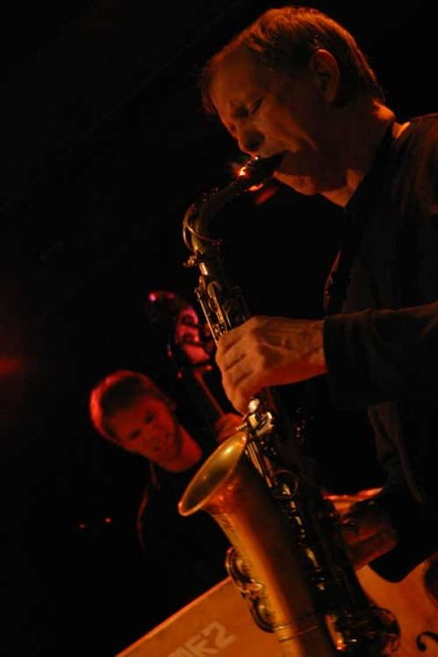 "Dick Oatts and Johannes Weidenmuller with ""David Berkman Quartet"" at Amr, Sud Des Alpes, Geneva, Switzerland,2004"