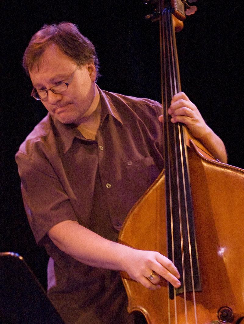 Bassist John Geggie in Ottawa, Canada, October 9, 2010