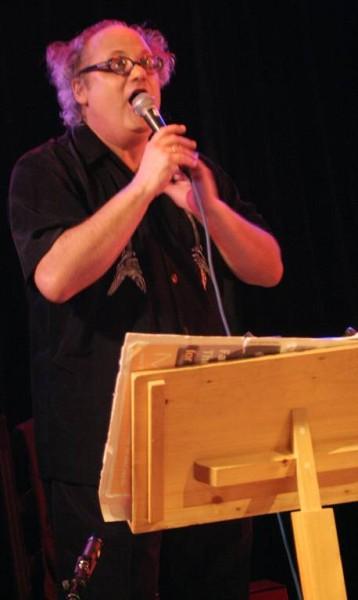 "Eugene Chadbourne with ""Aki Takase Plays Fats Waller"" at Amr, Sud Des Alpes, Geneva, Switzerland,2005"