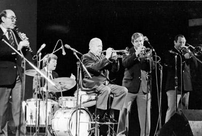 Wild Bill Davison 0429621 Lewisham Jazz Fest., Lewisham, London. 1986 Images of Jazz