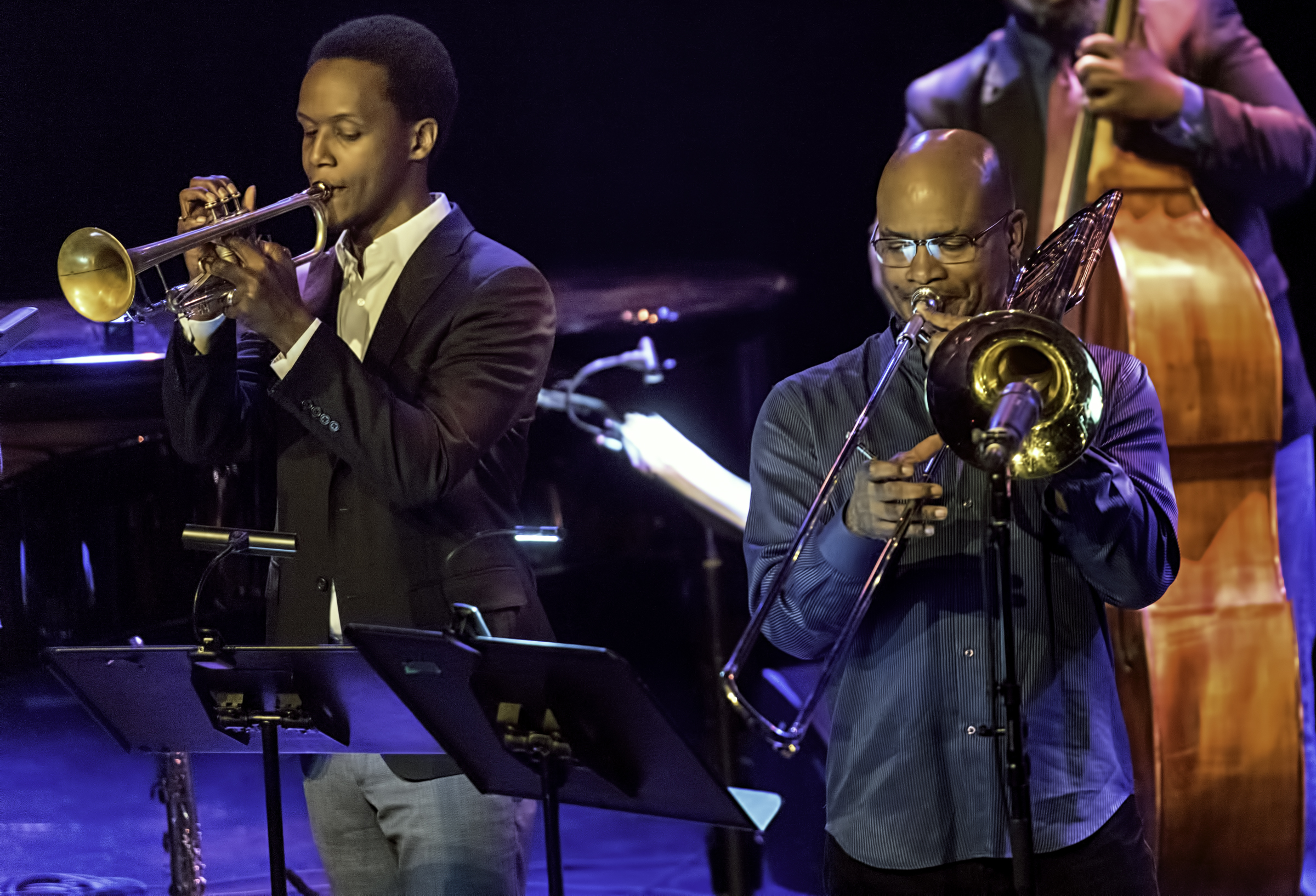 Jason Palmer and Robin Eubanks with Ravi Coltrane and the Void at The Montreal International Jazz Festival 2017