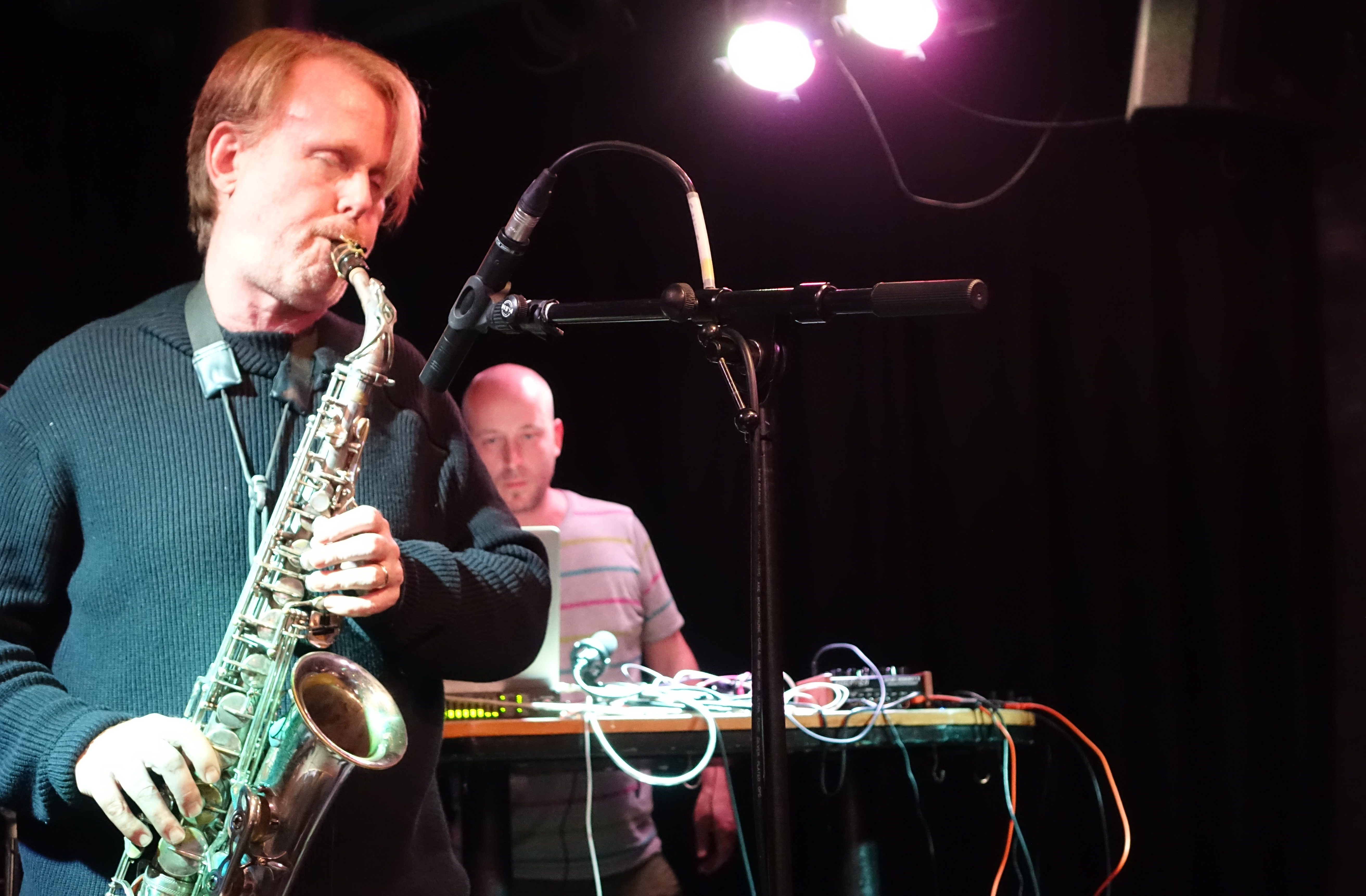 John O'Gallagher and Alex Bonney at the Vortex, London in December 2017