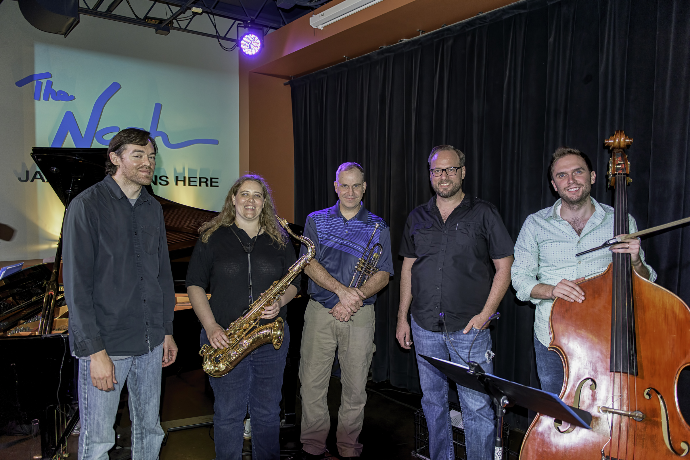 Michael Collins, Monica Shriver, Nick Cooper, EriK Teichman and Ben Hedquist with the Monica Shriver Project at the Nash in Phoenix