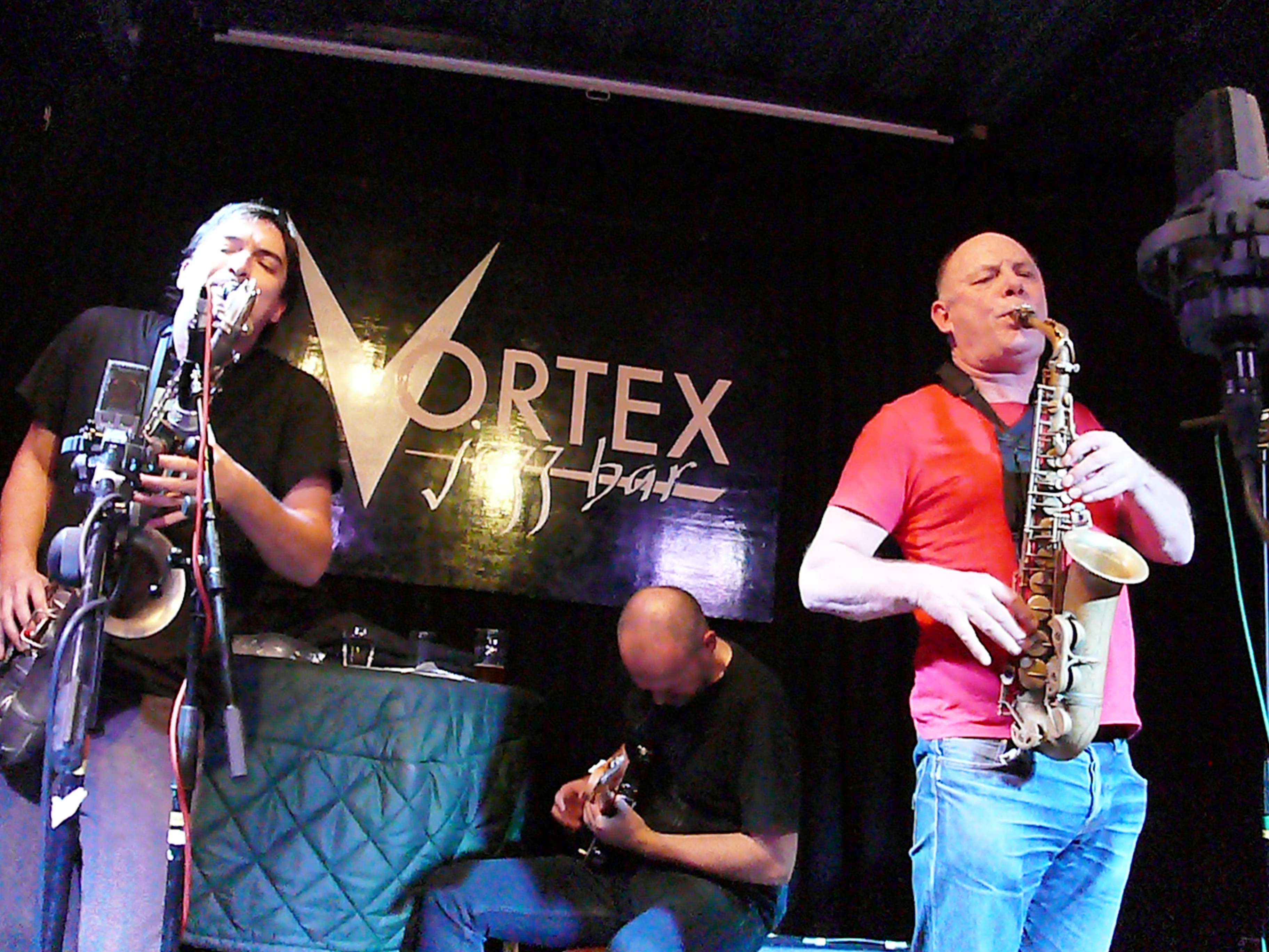 John Dikeman, Dirk Serries and Alan Wilkinson at the Vortex, London in February 2017