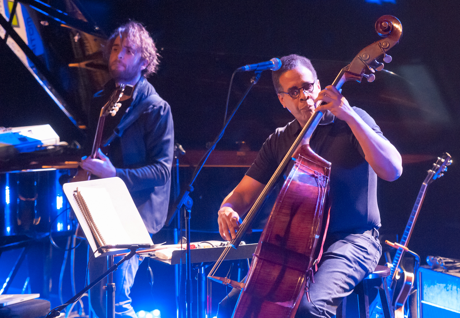 Charles Aluna and Stanley Clarke at the Montreal International Jazz Festival 2012