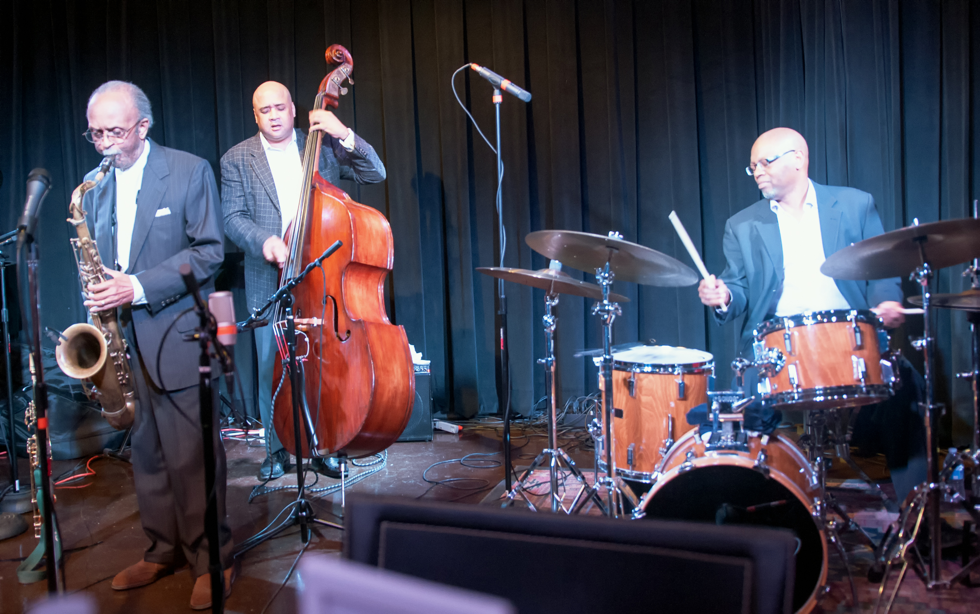 Jimmy Heath, Peter Washington And Lewis Nash At The Nash's Second Anniversary Celebration In Phoenix