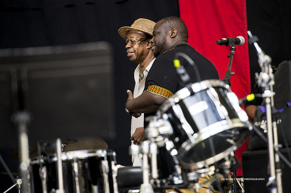 Louis Hayes and Jonathan Blake at the 2017 Charlie Parker Jazz Festival