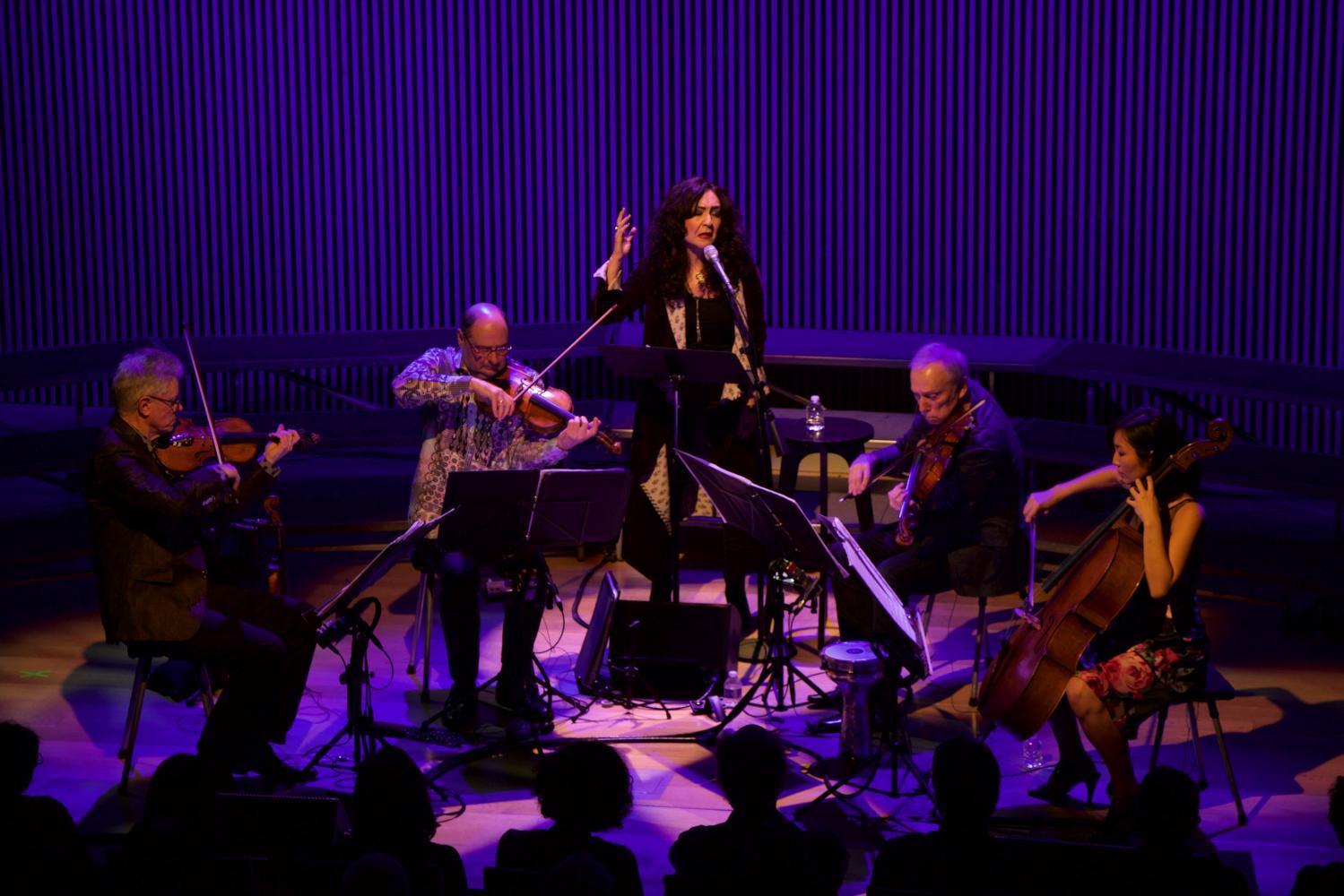 Mahsa Vahdat With The Kronos Quartet At Kronos Festival 2017