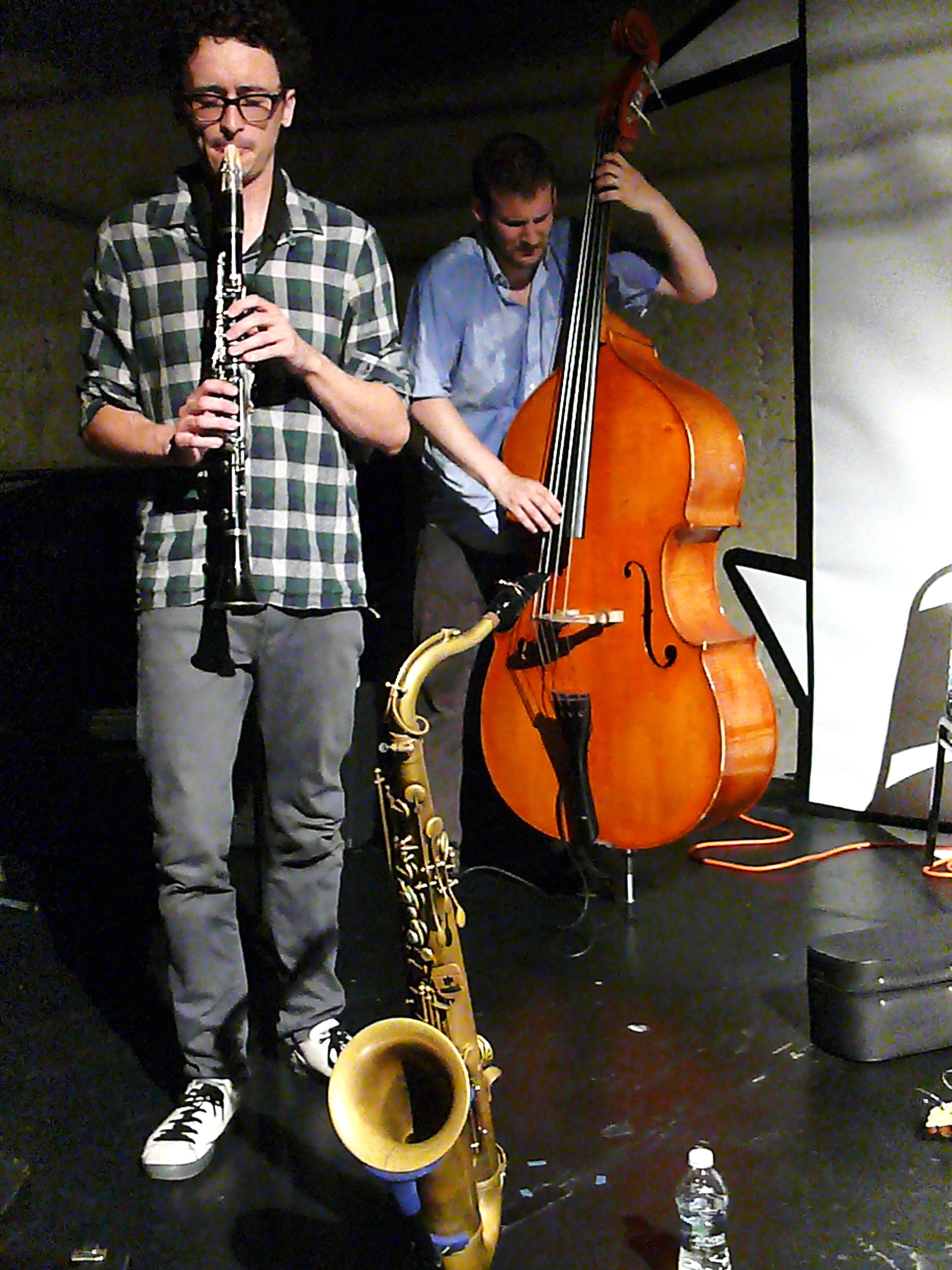 Joachim Badenhorst and Pascal Niggenkemper at the 2010 Vision Festival in New York