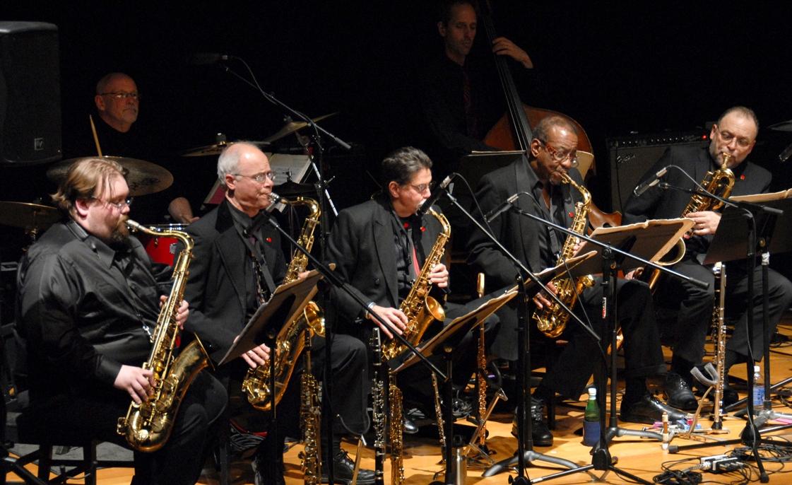 Aardvark jazz orchestra sax section