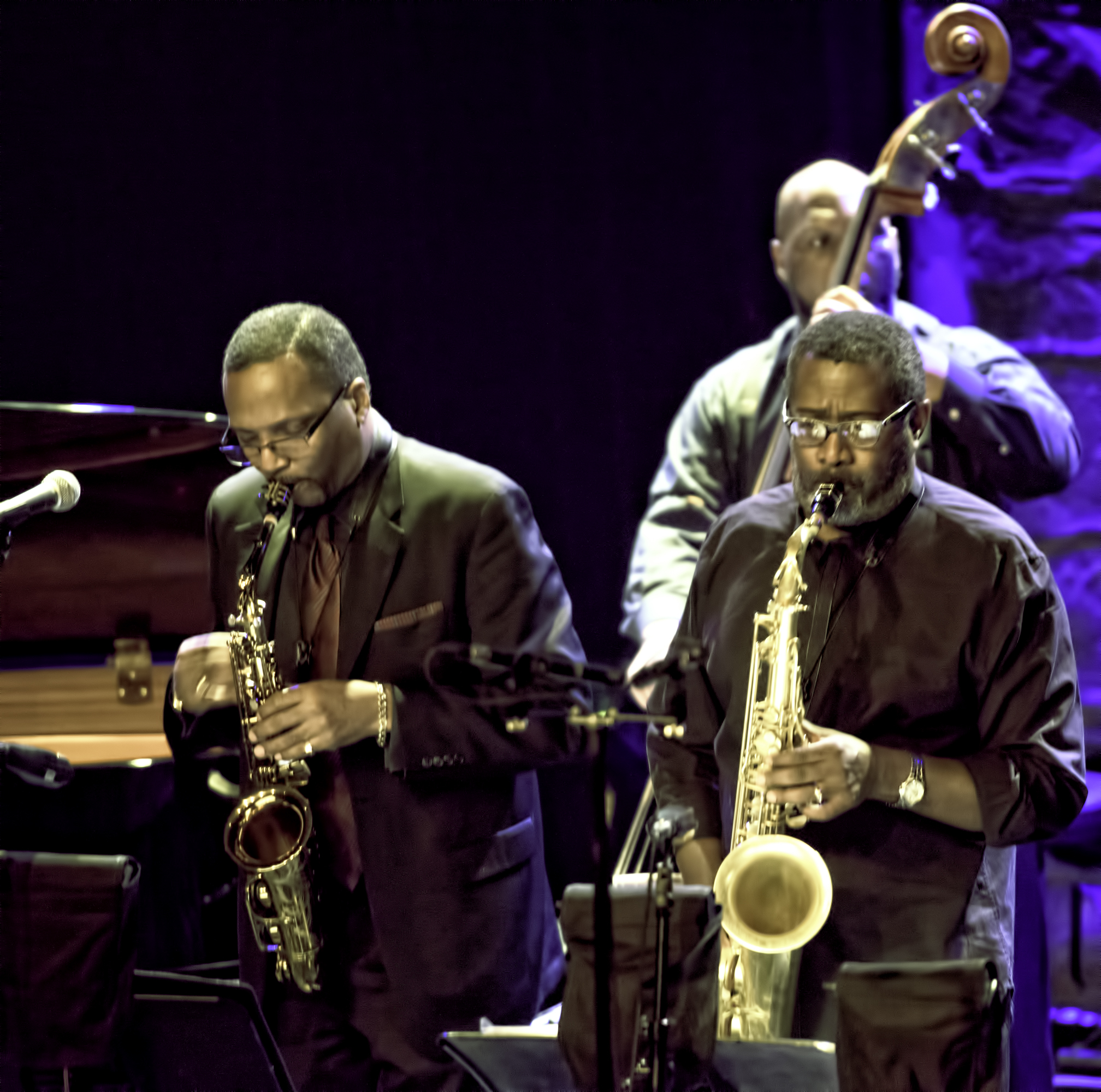 Cleave Guyton, Lance Bryant and Noah Jackson with Abdullah Ibrahim and Ekaya at the Montreal Jazz Festival 2015