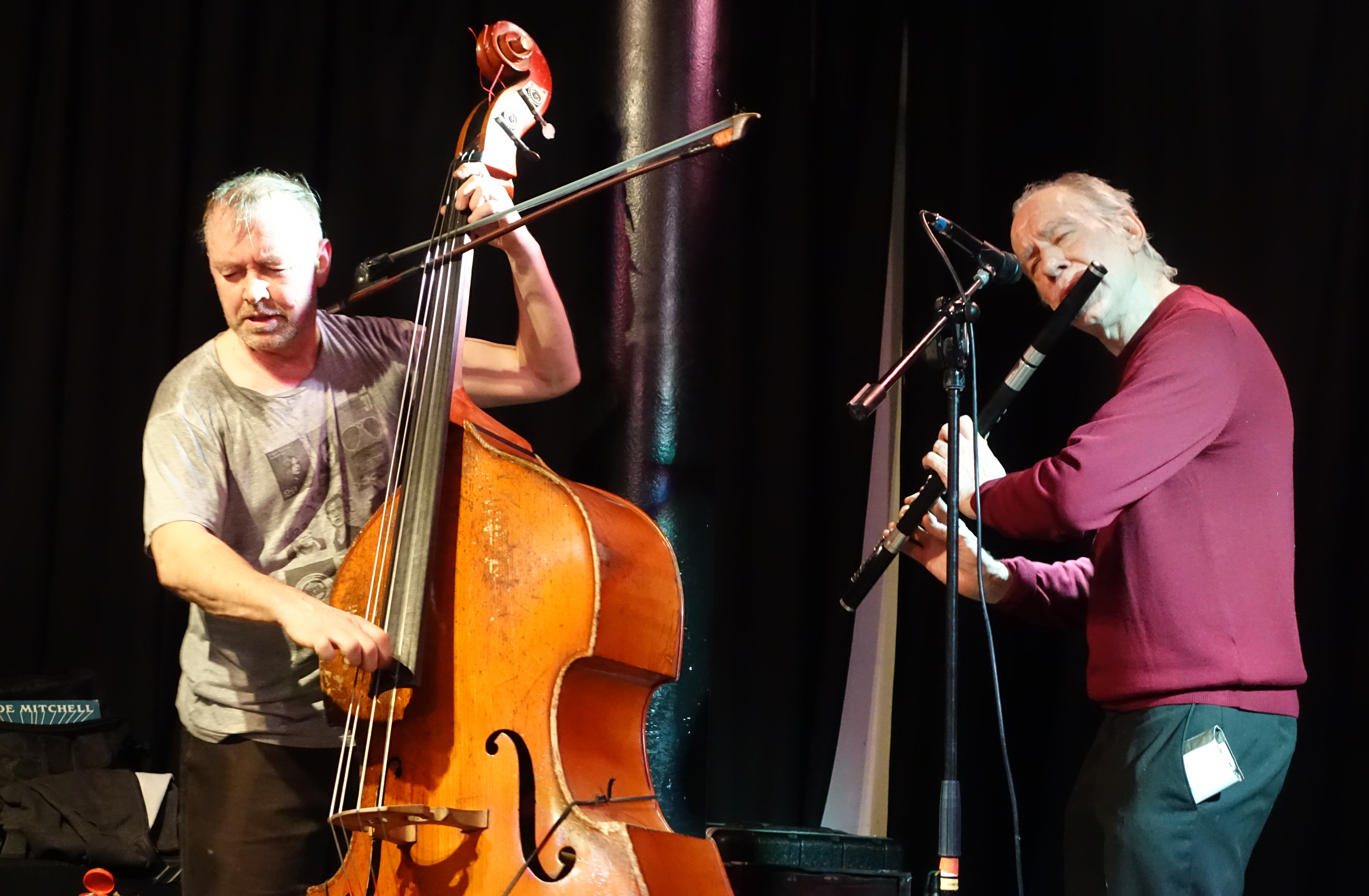 Neil Metcalfe and John Edwards at the Vortex, London in November 2017