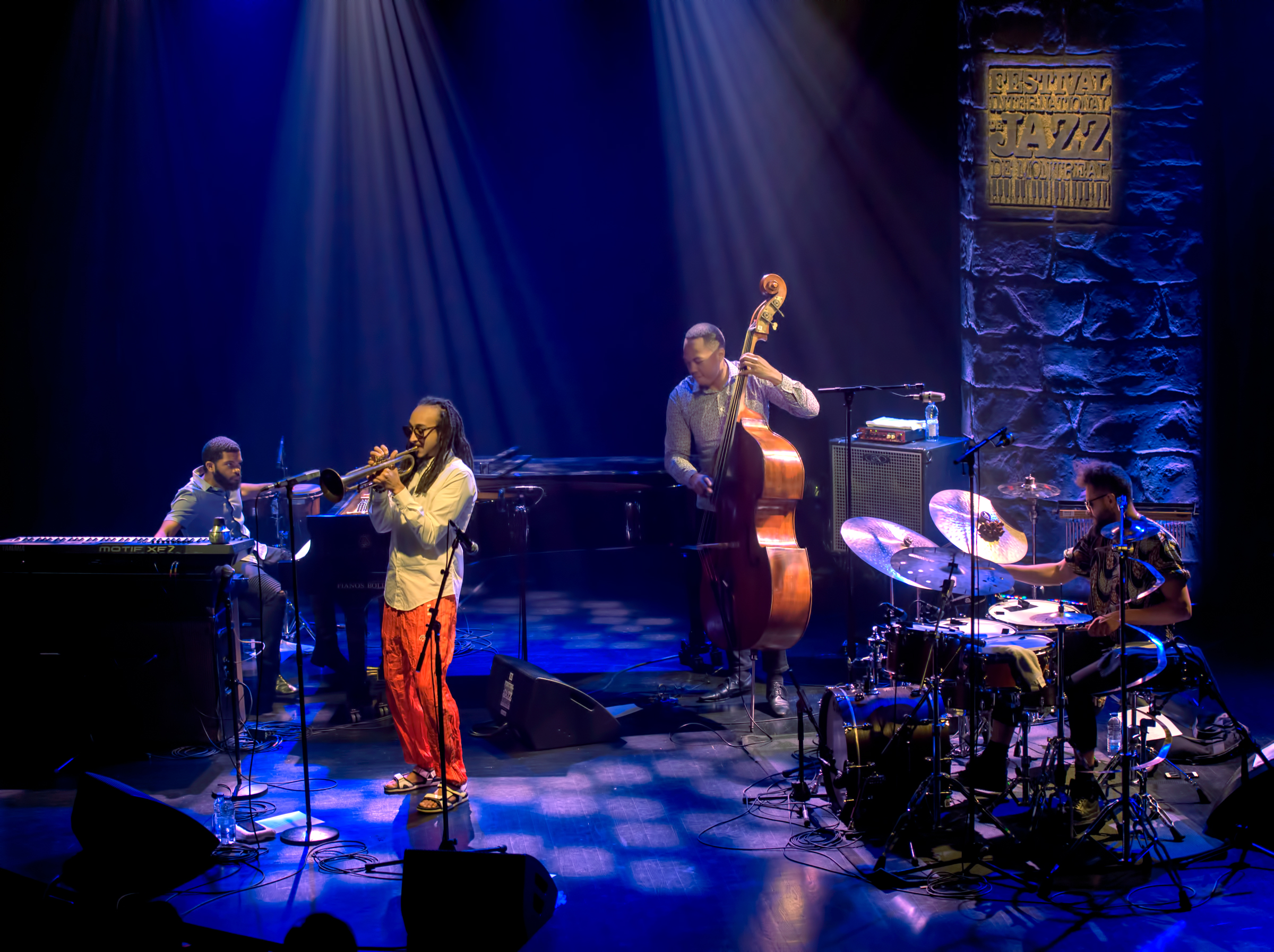 Mike King, Theo Croker, Eric Wheeler And Kassa Overall At The Montreal International Jazz Festival 2018