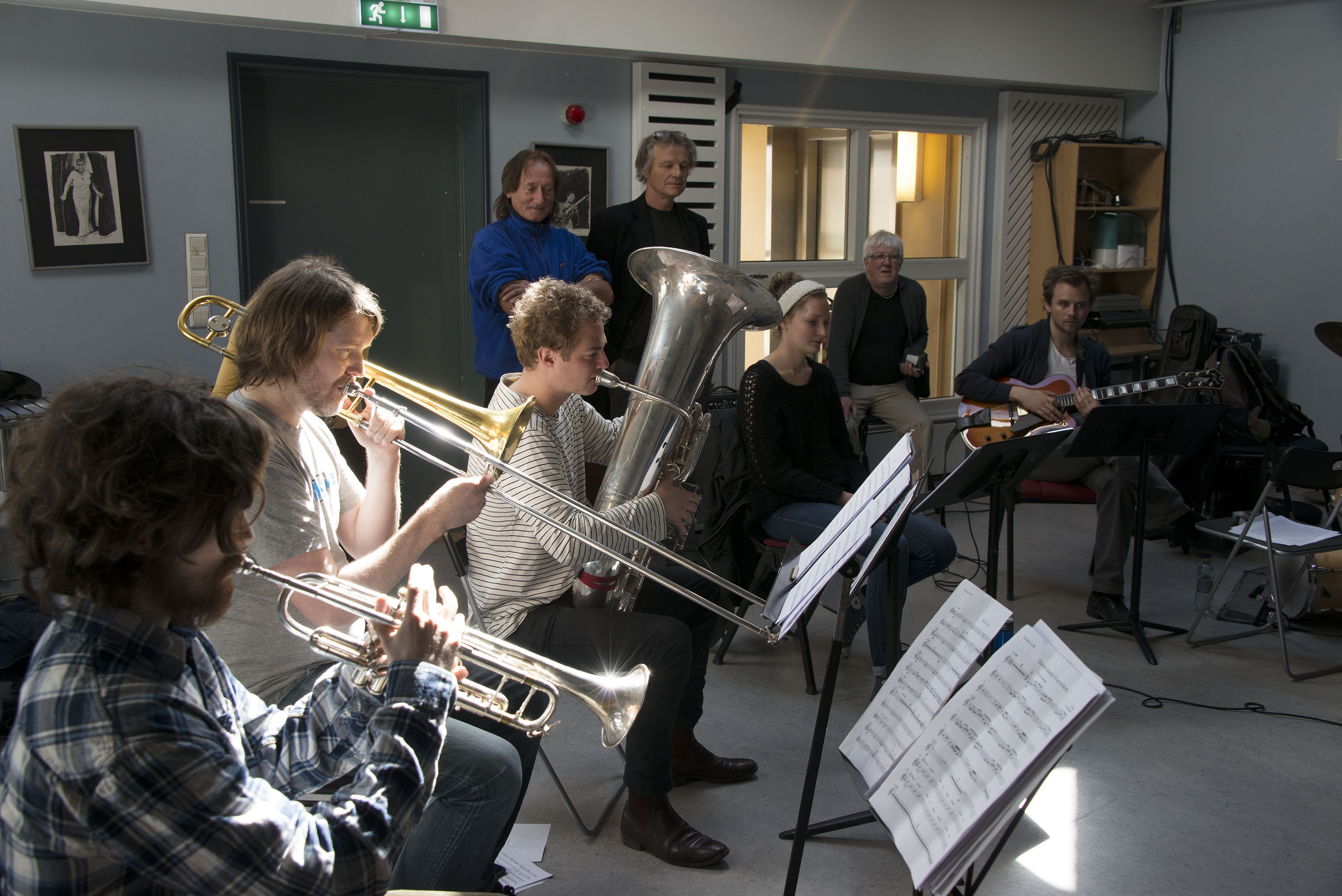 Jazz Students Go Difference Rehearsal