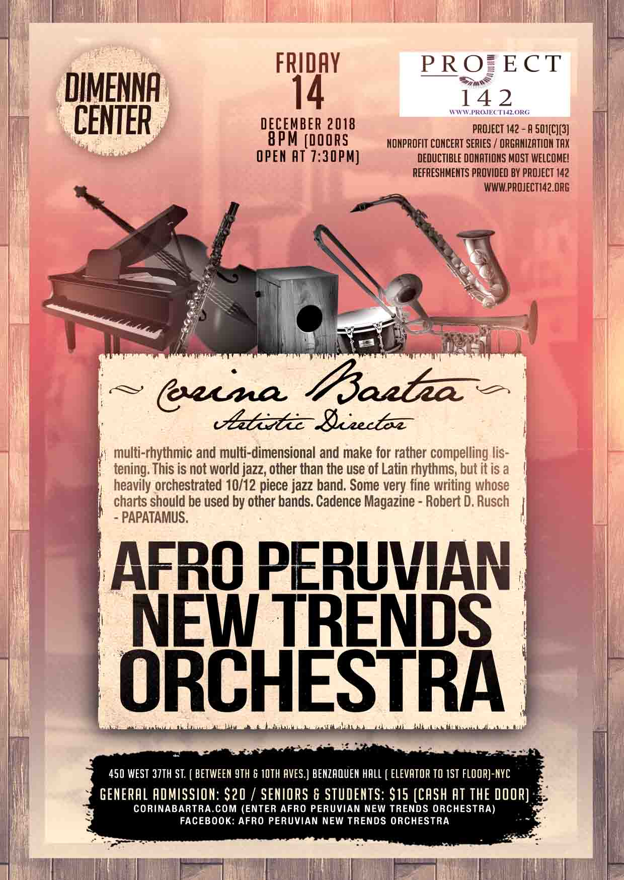 Corina Bartra and the Afro Peruvian New Trends Orchestra