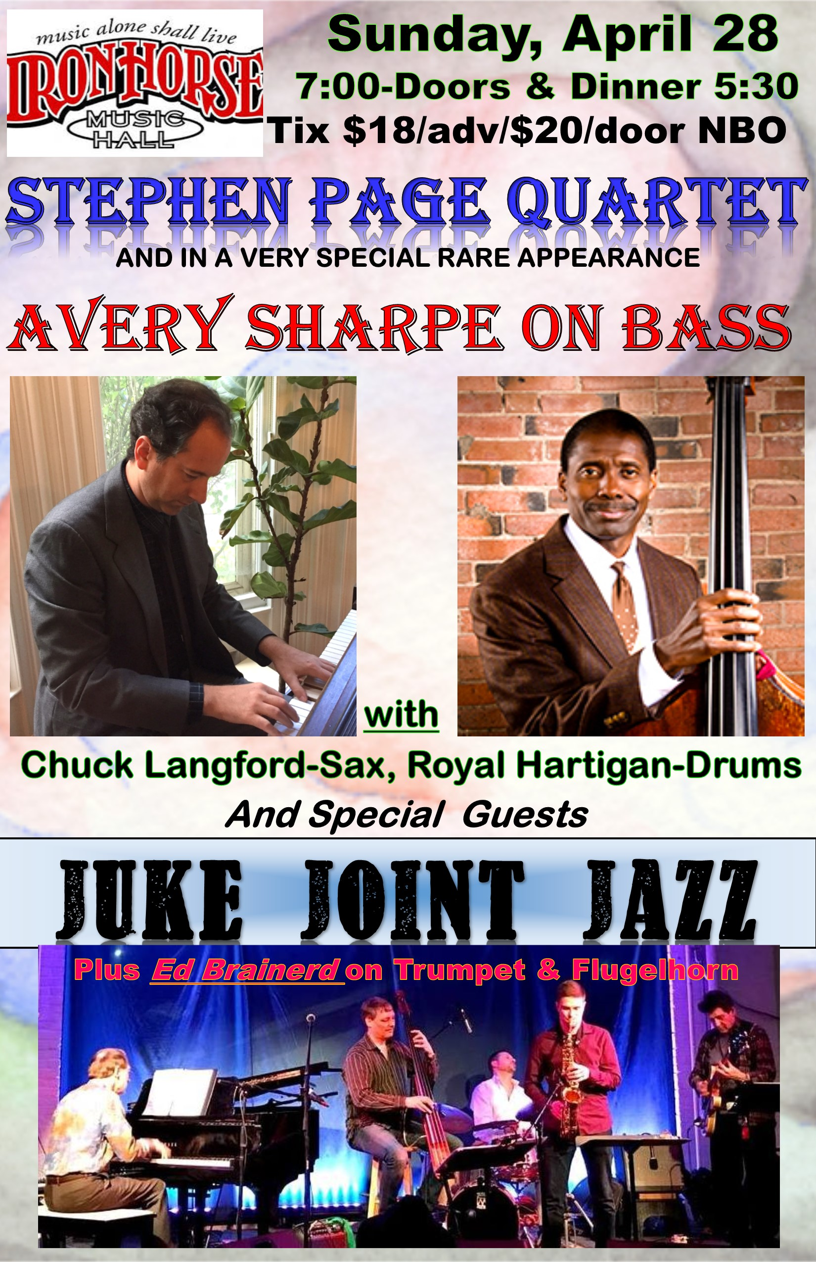 Stephen Page Quartet Feat. Avery Sharpe Plus Juke Joint Jazz