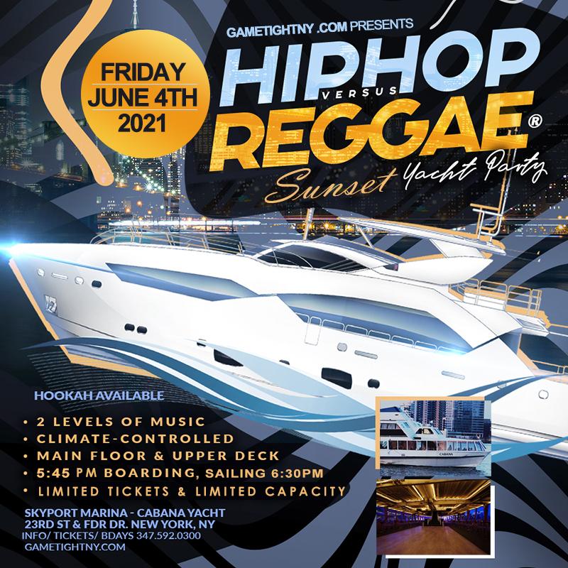 Nyc Summer Hip Hop Vs Reggae® Sunset Cruise Skyport Marina Cabana Yacht