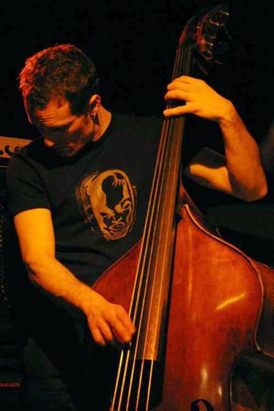 "Remi Vignolo with ""Aldo Romano - Because of Bechet"" at Amr, Sud Des Alpes, Geneva, Switzerland, 2005"