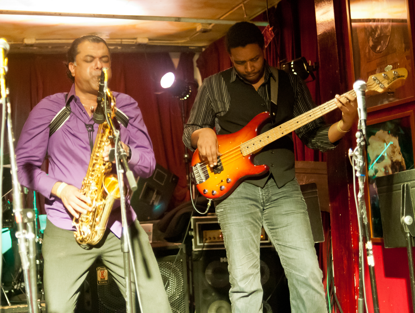 Rudresh Mahanthappa and Rich Brown at the Winter Jazzfest 2012