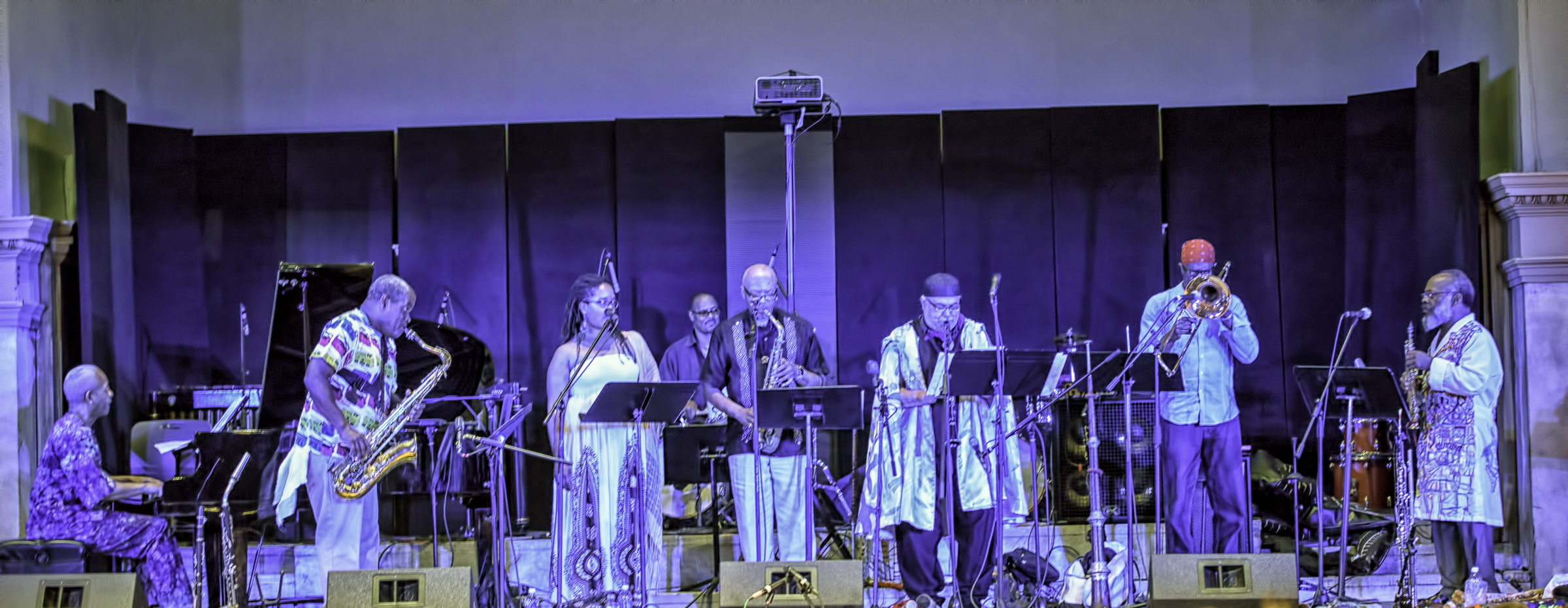 Adegoke Steve Colson, Edward Wilkerson, Mankwe Ndosi, Oliver Lake, J. D. Parran, Reggie Nicholson And Douglas R. Ewart With Quasar At The 20th Anniversary Vision Festival 2015