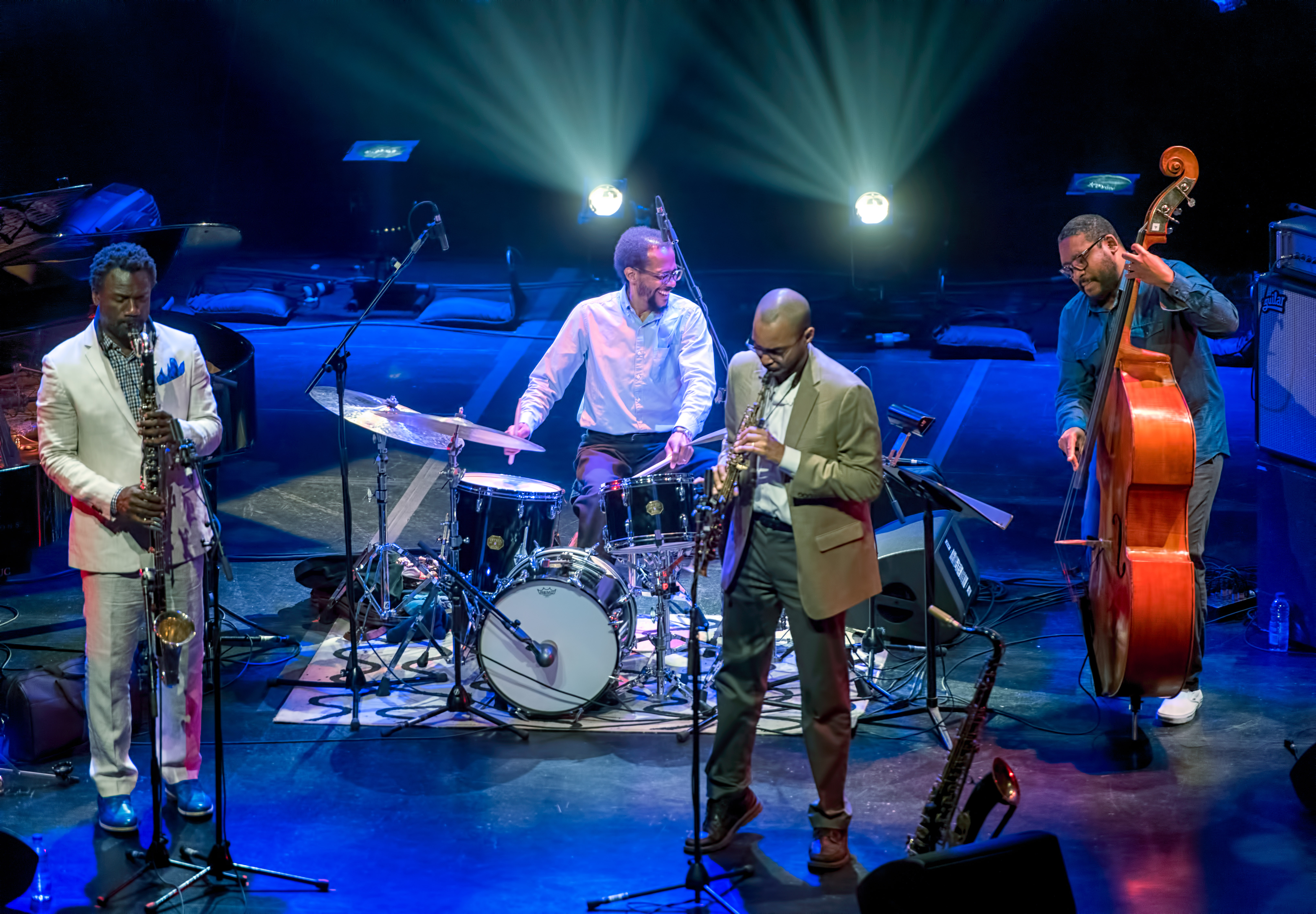 Myron Walden, Brian Blade, Melvin Butler and Christopher Thomas with Brian Blade And The Fellowship Band At The Montreal International Jazz Festival 2018