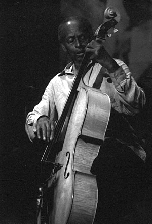 Bassist Percy Heath Performing with the Heath Brothers, September 2002.