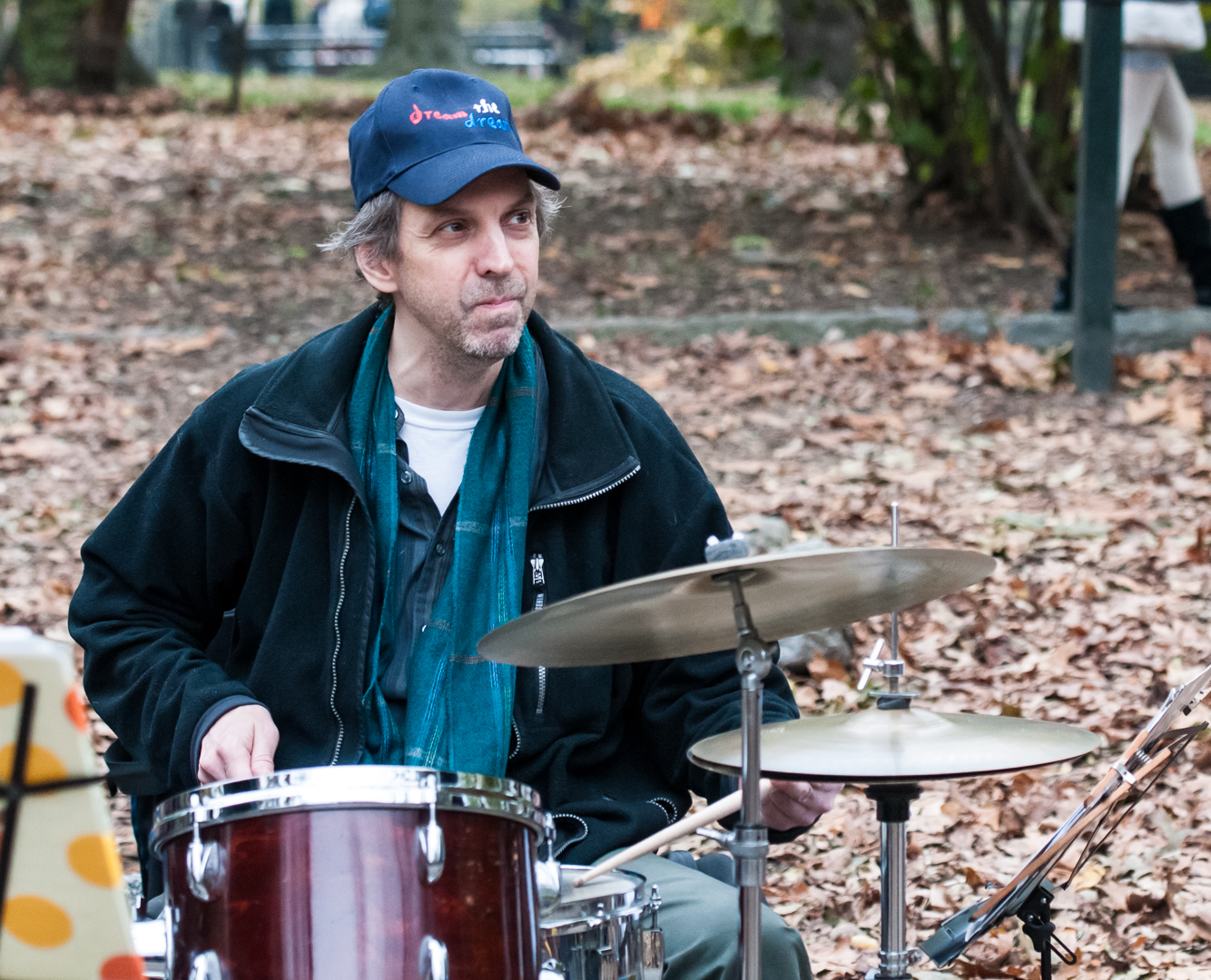 George Schuller with the Joel Harrison Quintet at Jazz and Colors in Central Park