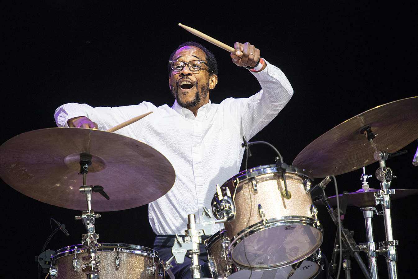 Brian Blade at the 2019 Saratoga Jazz Festival