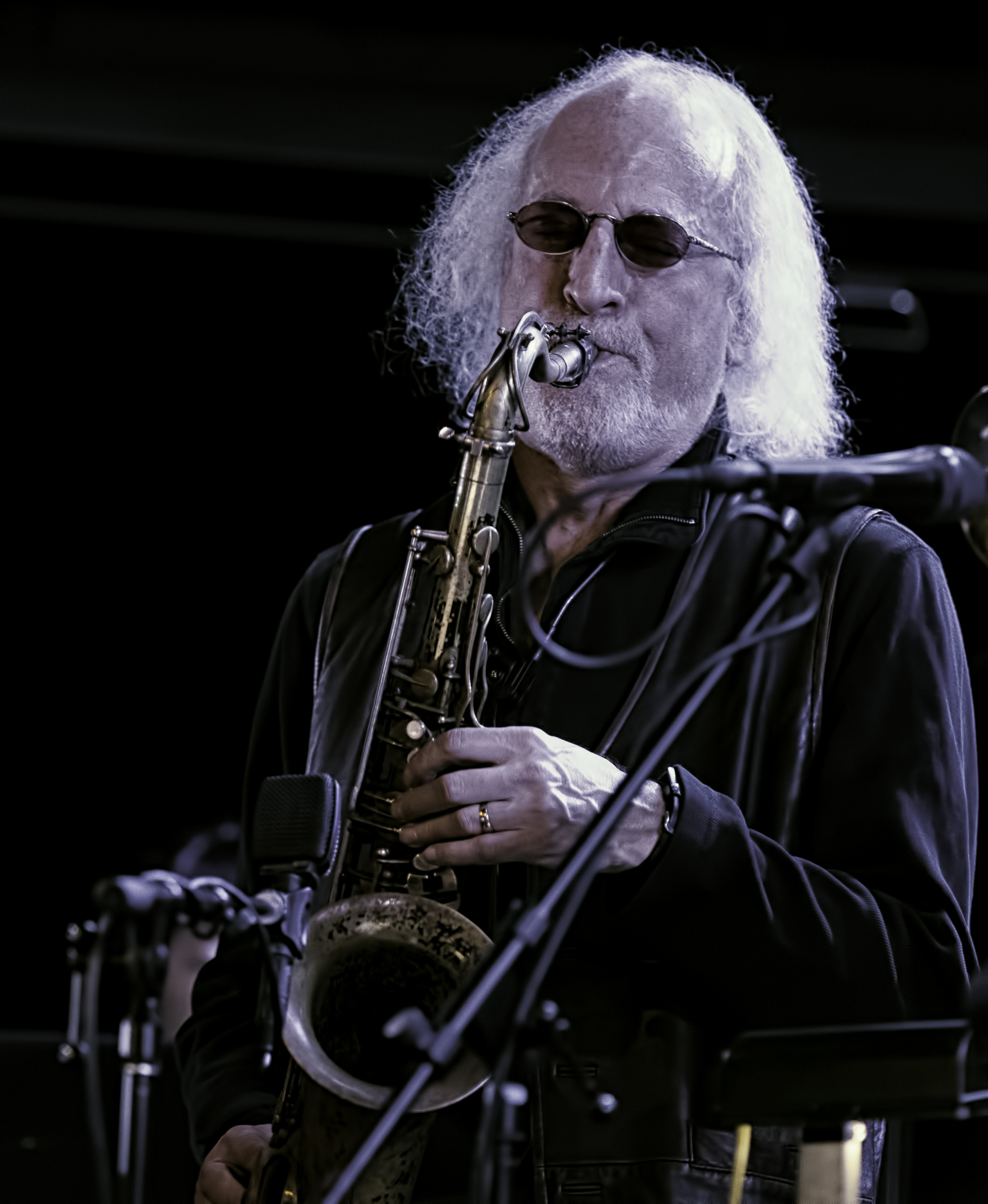 Larry Ochs with Rova's Electric Ascension at the NYC Winter Jazzfest 2016
