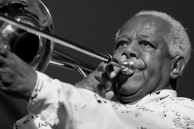 Slide Hampton Performing at the Chicago Jazz Festival; 2005