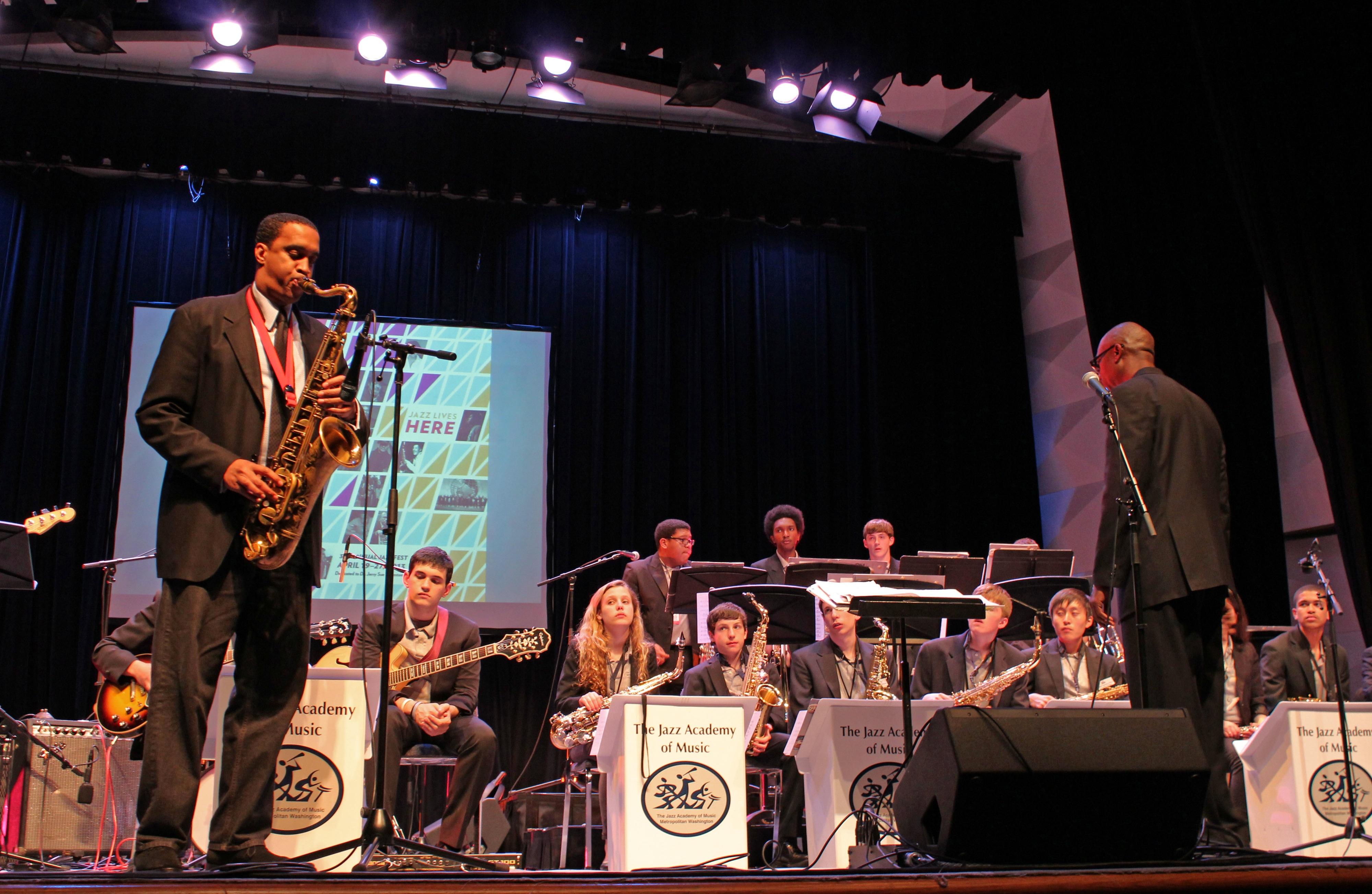 Javon jackson with the jazz academy of music