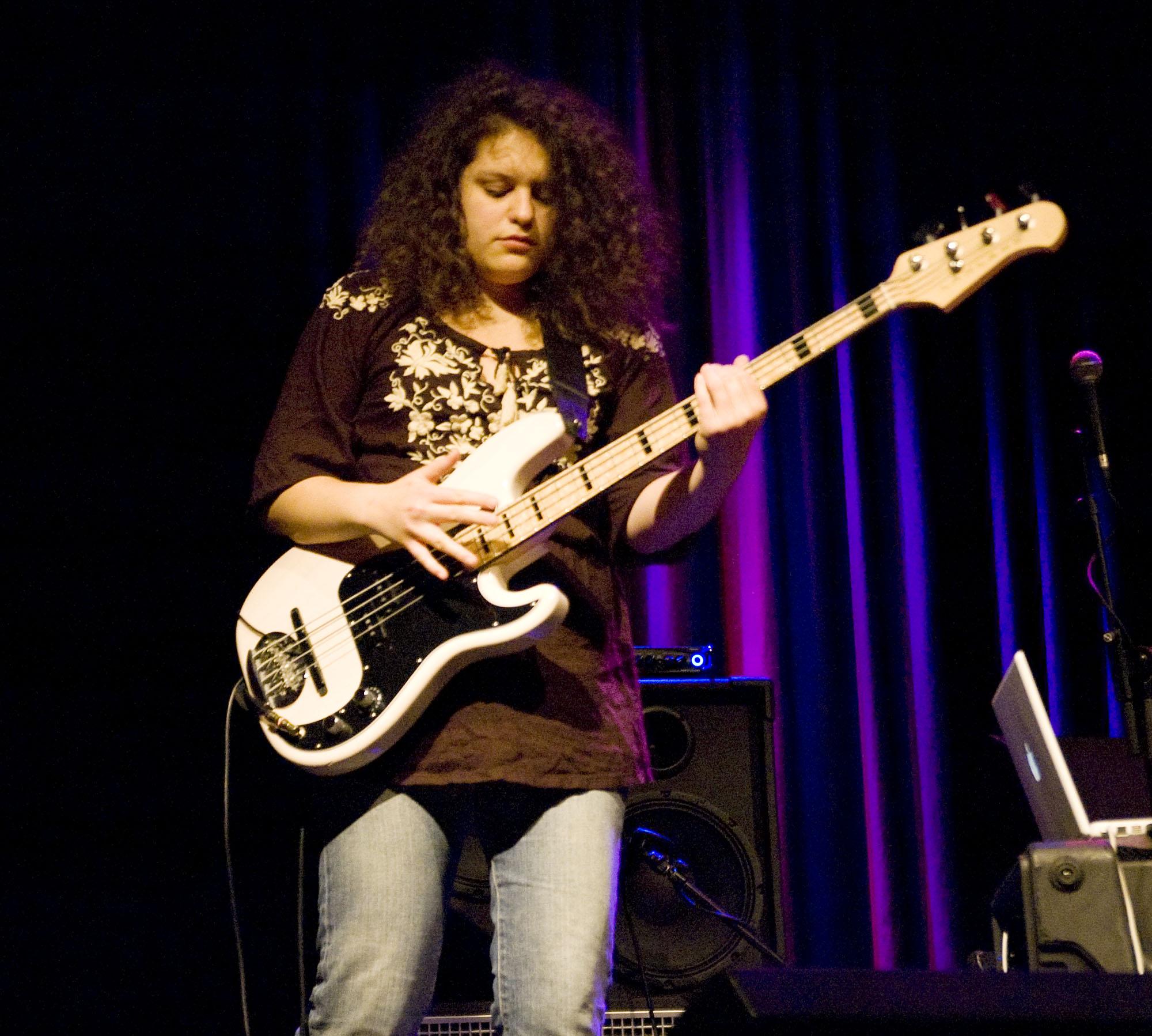 Julie Slick, Performing with Adrian Belew Power Trio at Enjoy Jazz 2010