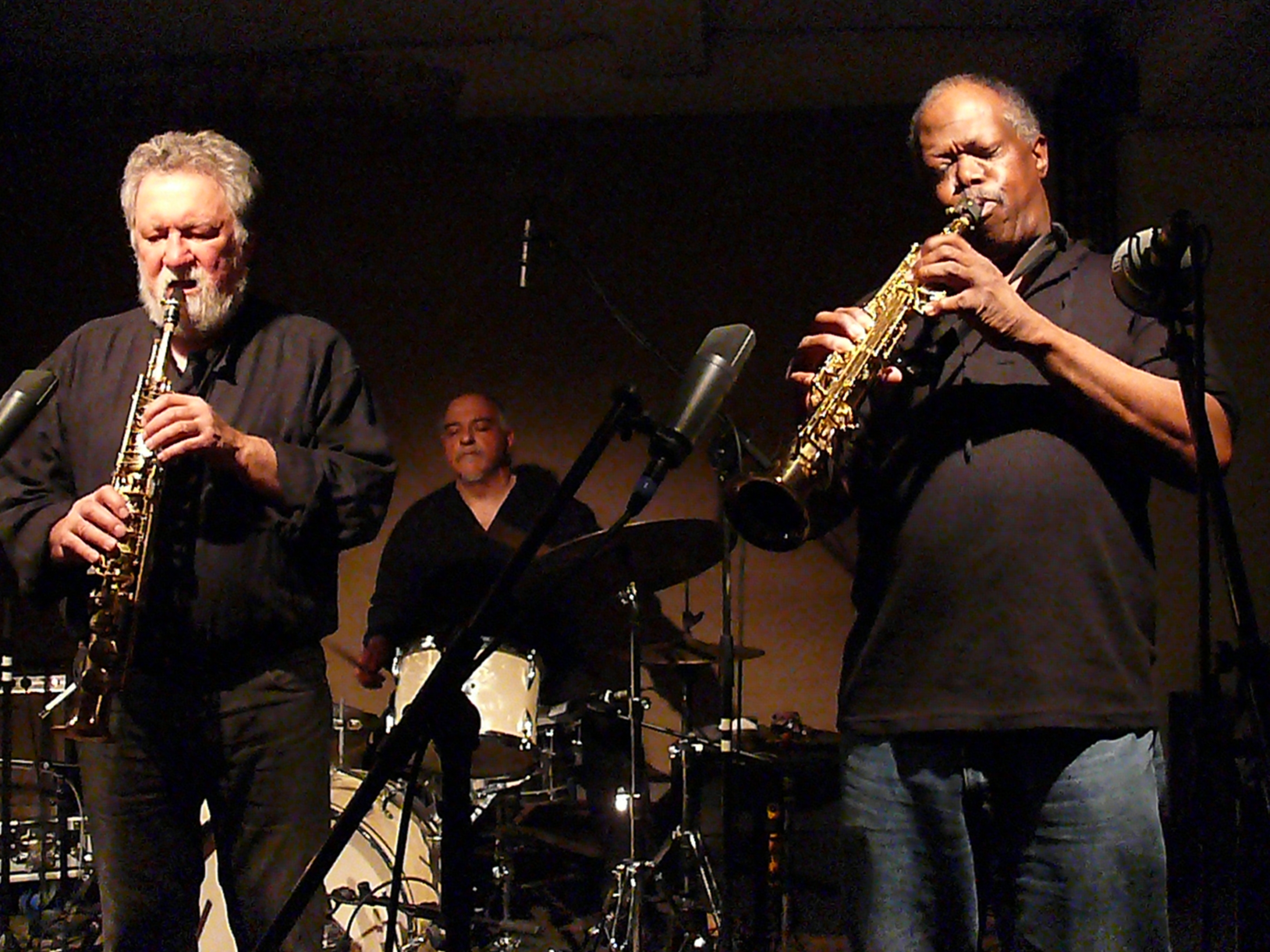 Evan Parker, Michael Zerang and Joe McPhee at Cafe Oto, London in March 2012