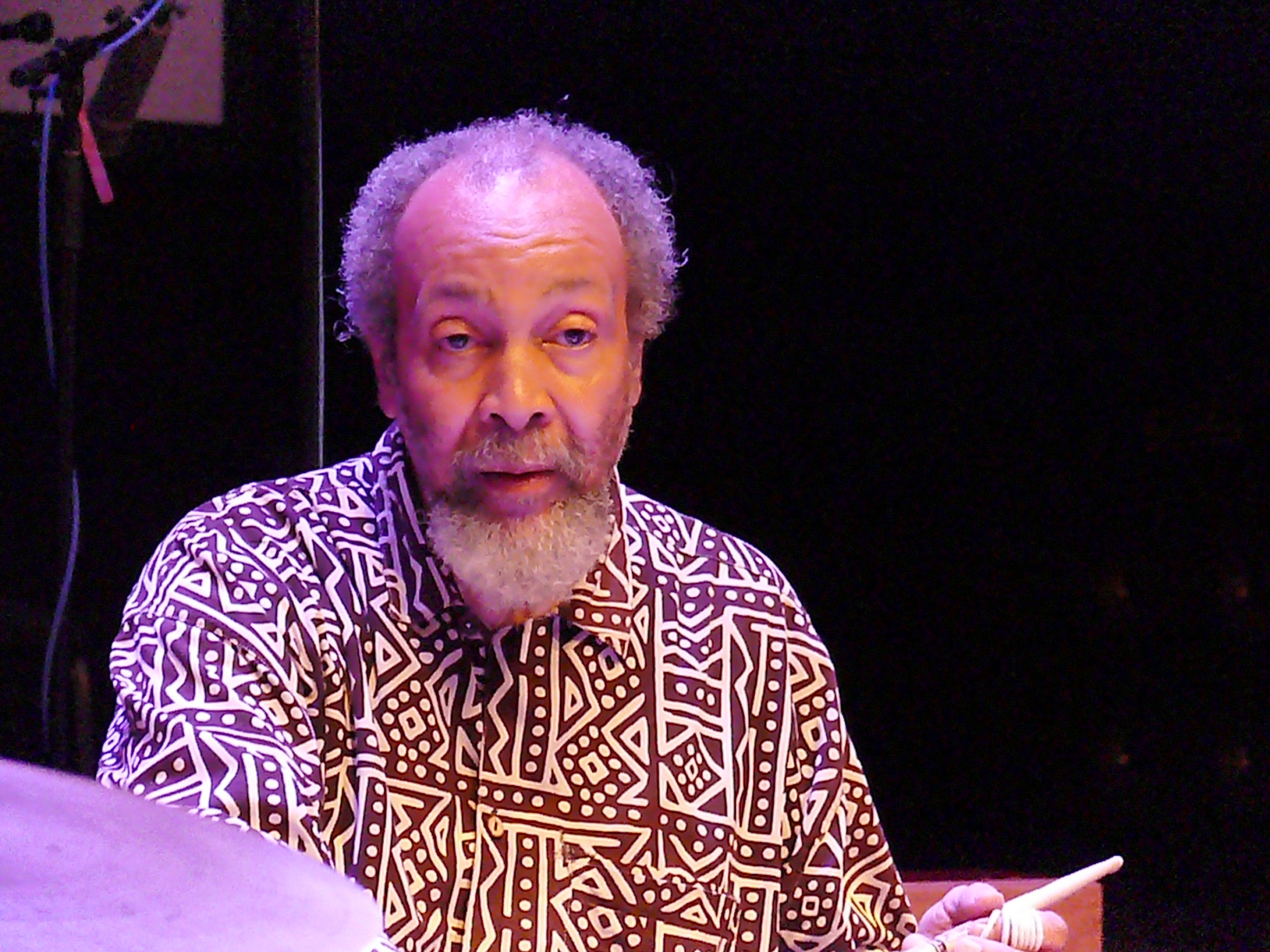 Milford graves at the vision festival in new york in june 2013