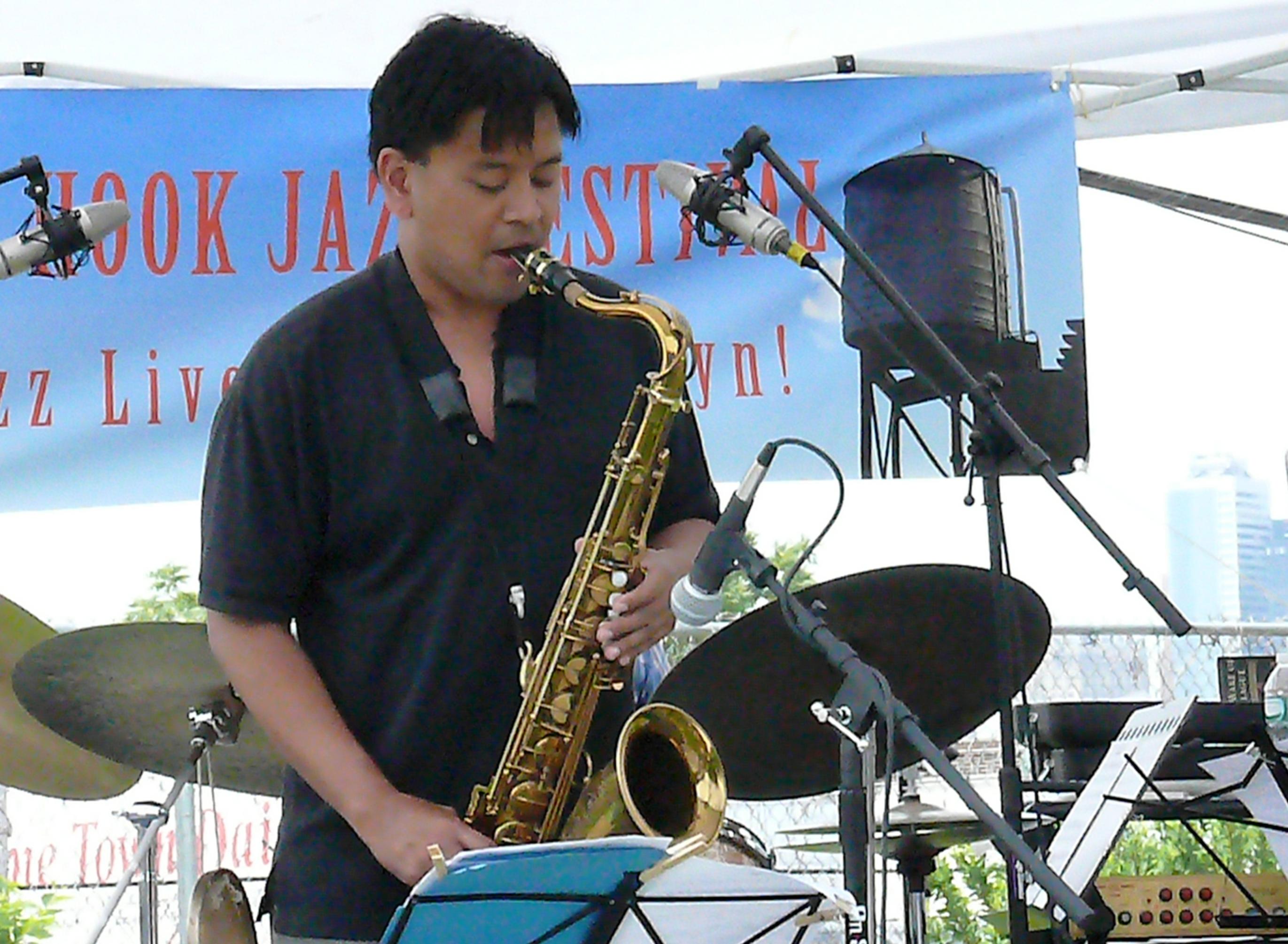 Jon irabagon at red hook jazz festival, new york in june 2013