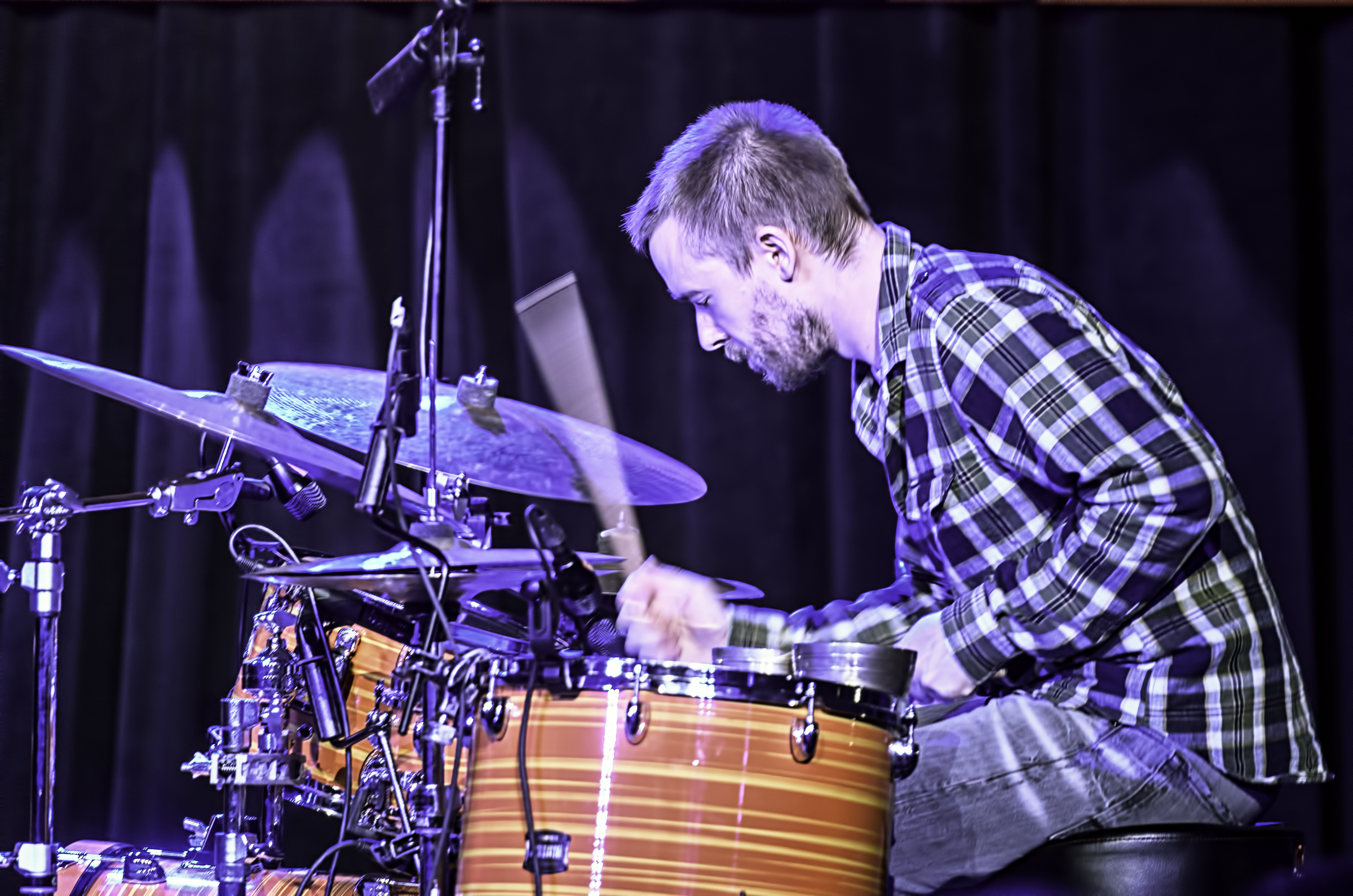 Rob Turner with GoGo Penguin at the Monterey Jazz Festival