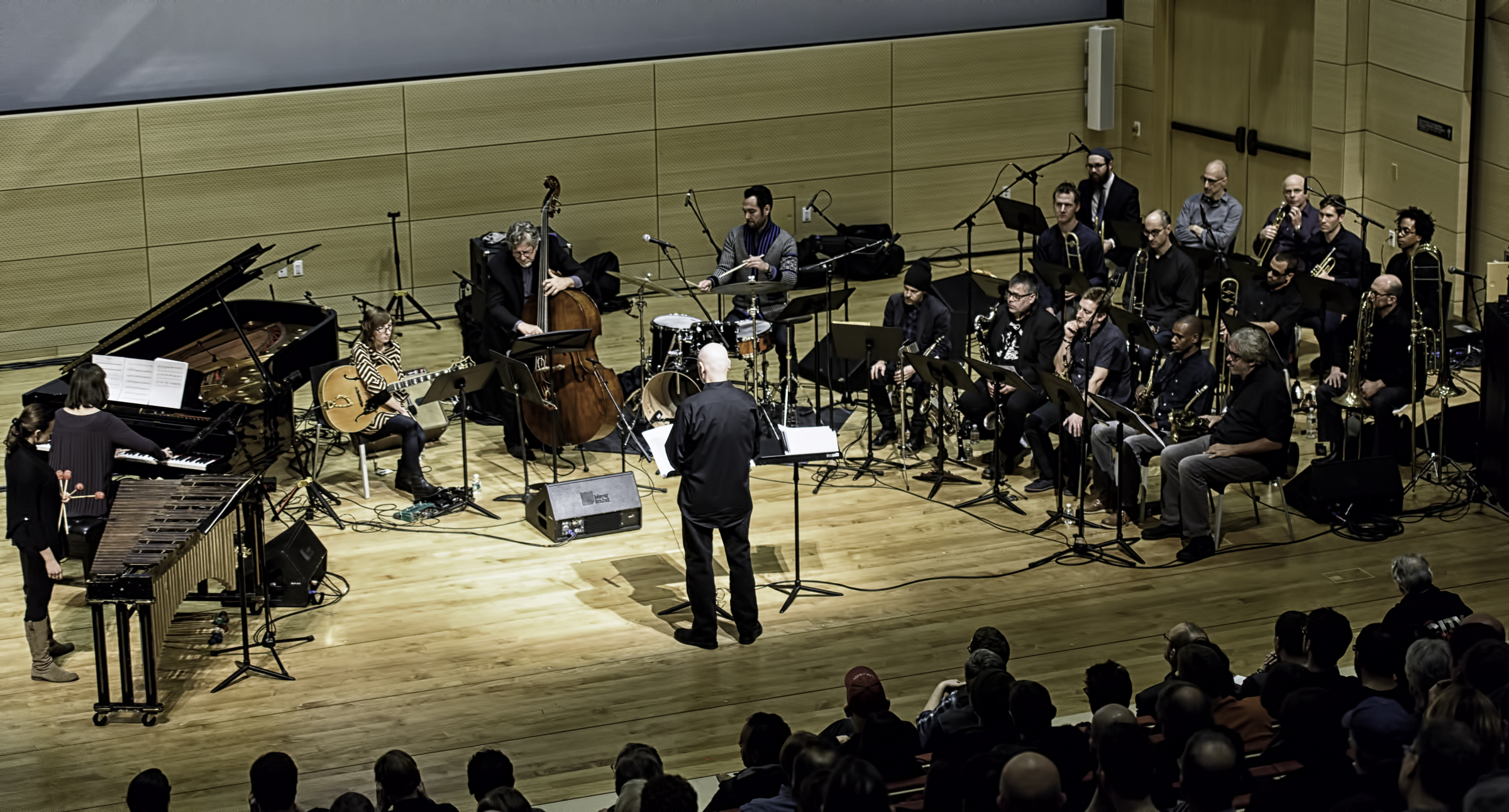Mark Helias Conducting Michael Formanek's Ensemble Kolossus At The Nyc Winter Jazzfest 2016