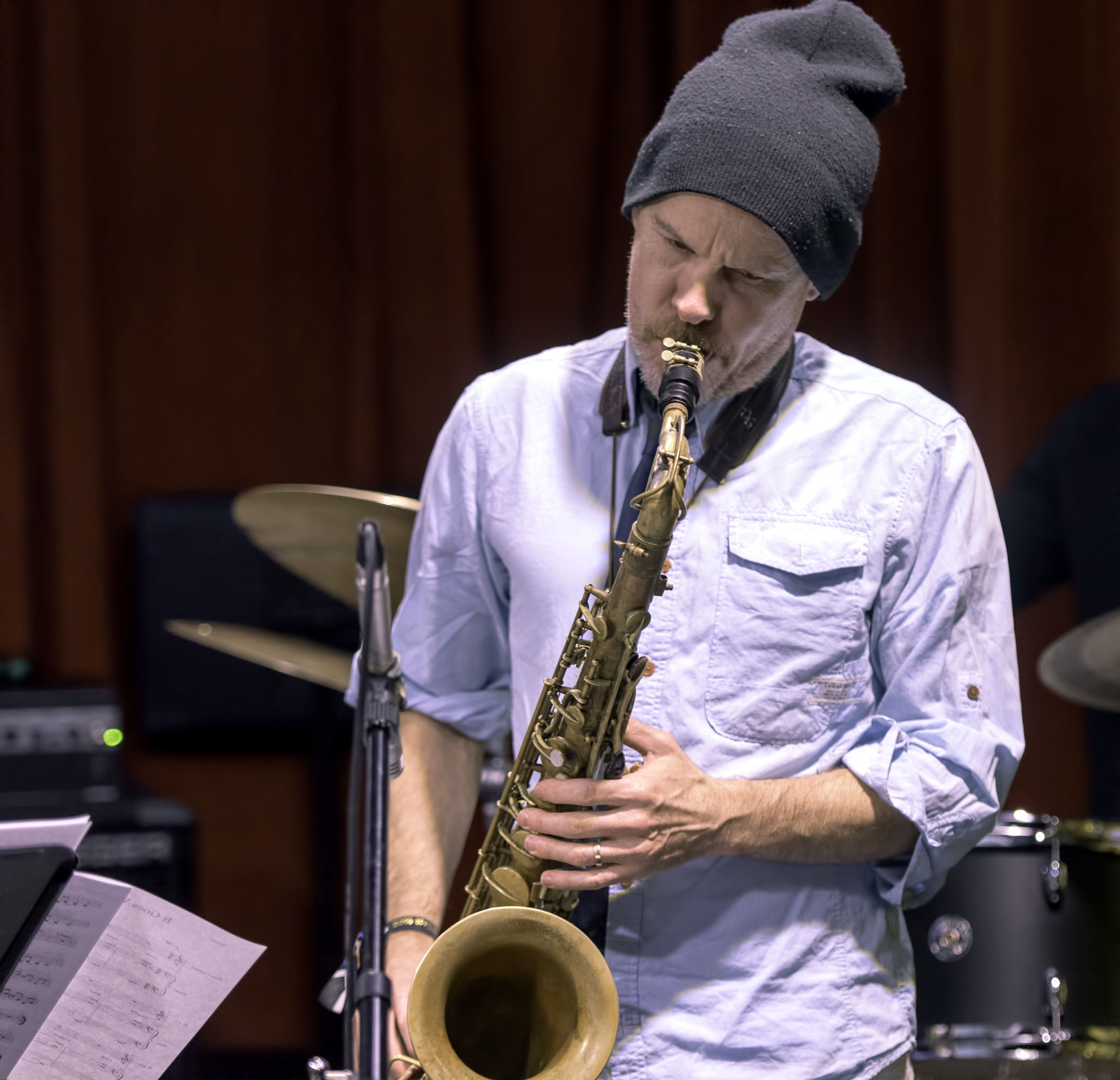 Chris Speed with the James Carney Sextet At The NYC Winter Jazzfest 2016