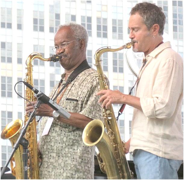 George (Sax) Benson (L) and Rick Margitza