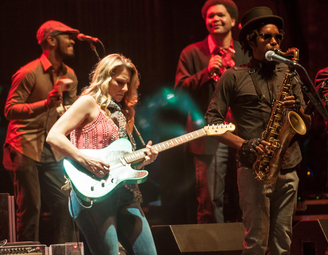 Susan Tedeschi, Mark Rivers, Mike Mattison and Kebbie Williams with the Tedeschi Trucks Band at the Beacon