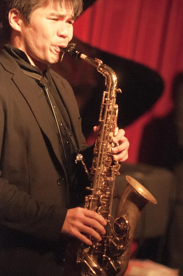 Yoske Sato with Gregory Porter at Smoke Jazz Club